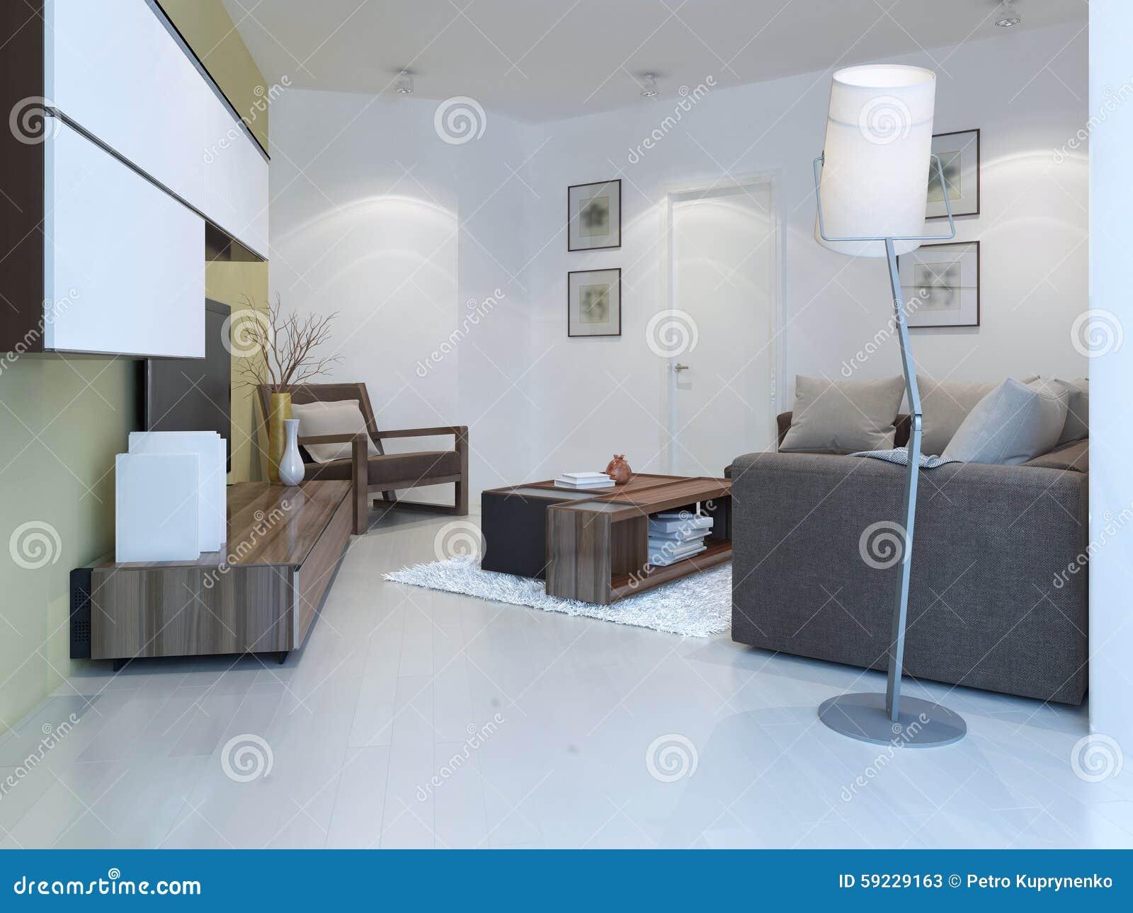 Download Pequeño Salón En Estilo Contemporáneo Stock de ilustración - Ilustración de cortinas, puertas: 59229163