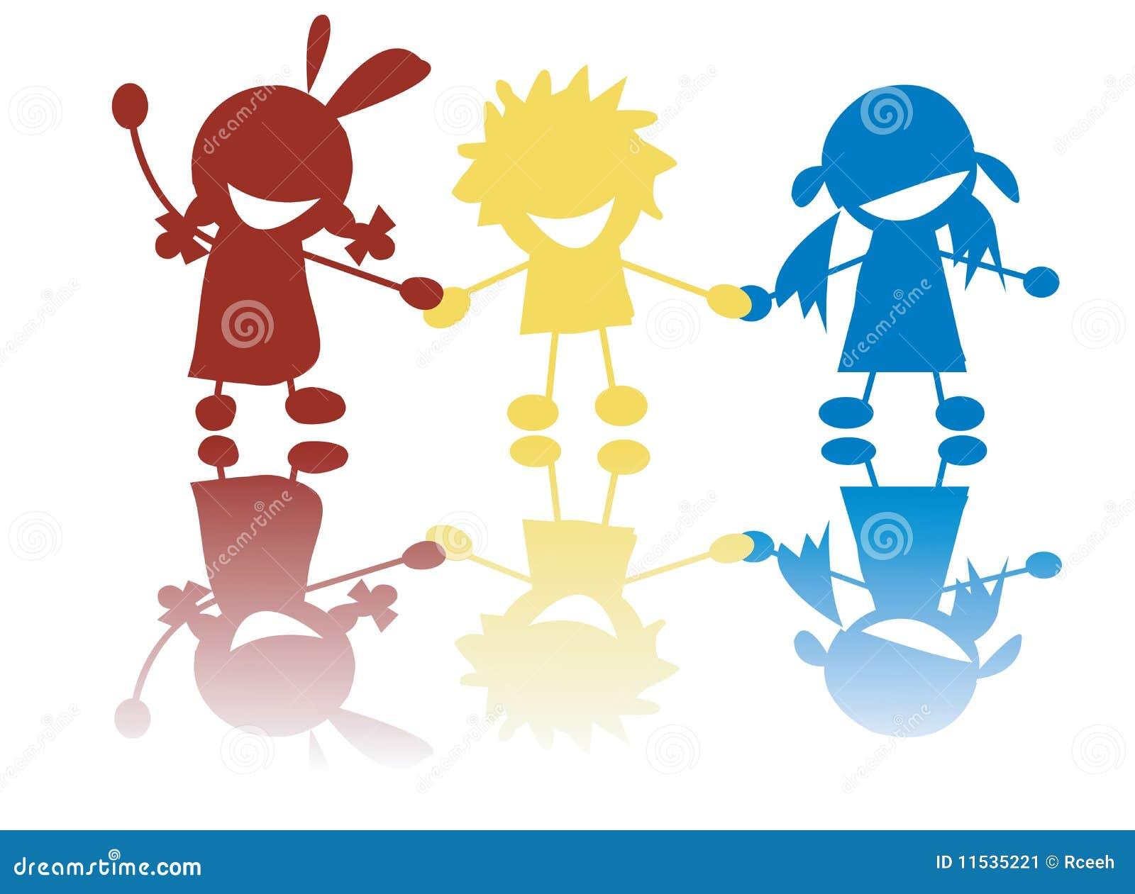 Рисунок детей держащихся за руки