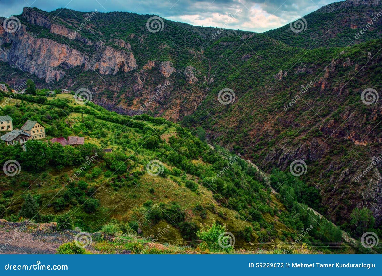 Pequeños pueblos de la región del Mar Negro de Anatolia, Turquía