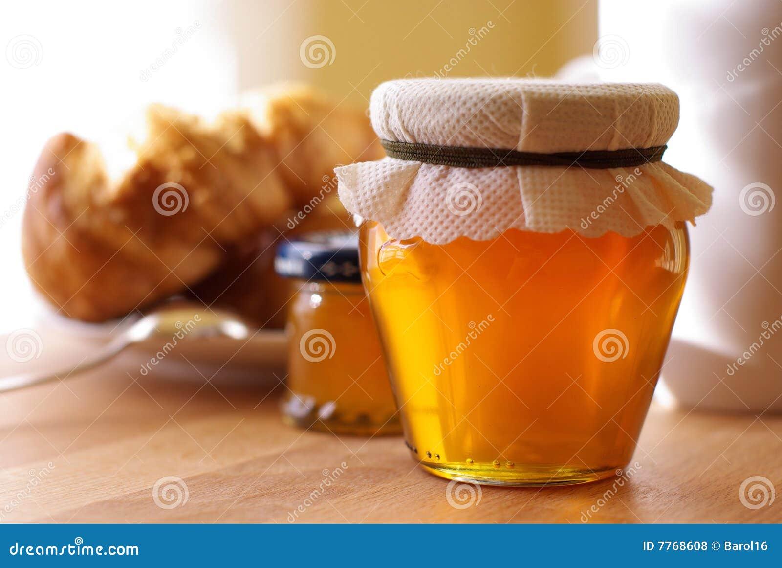 Pequeno almoço com mel