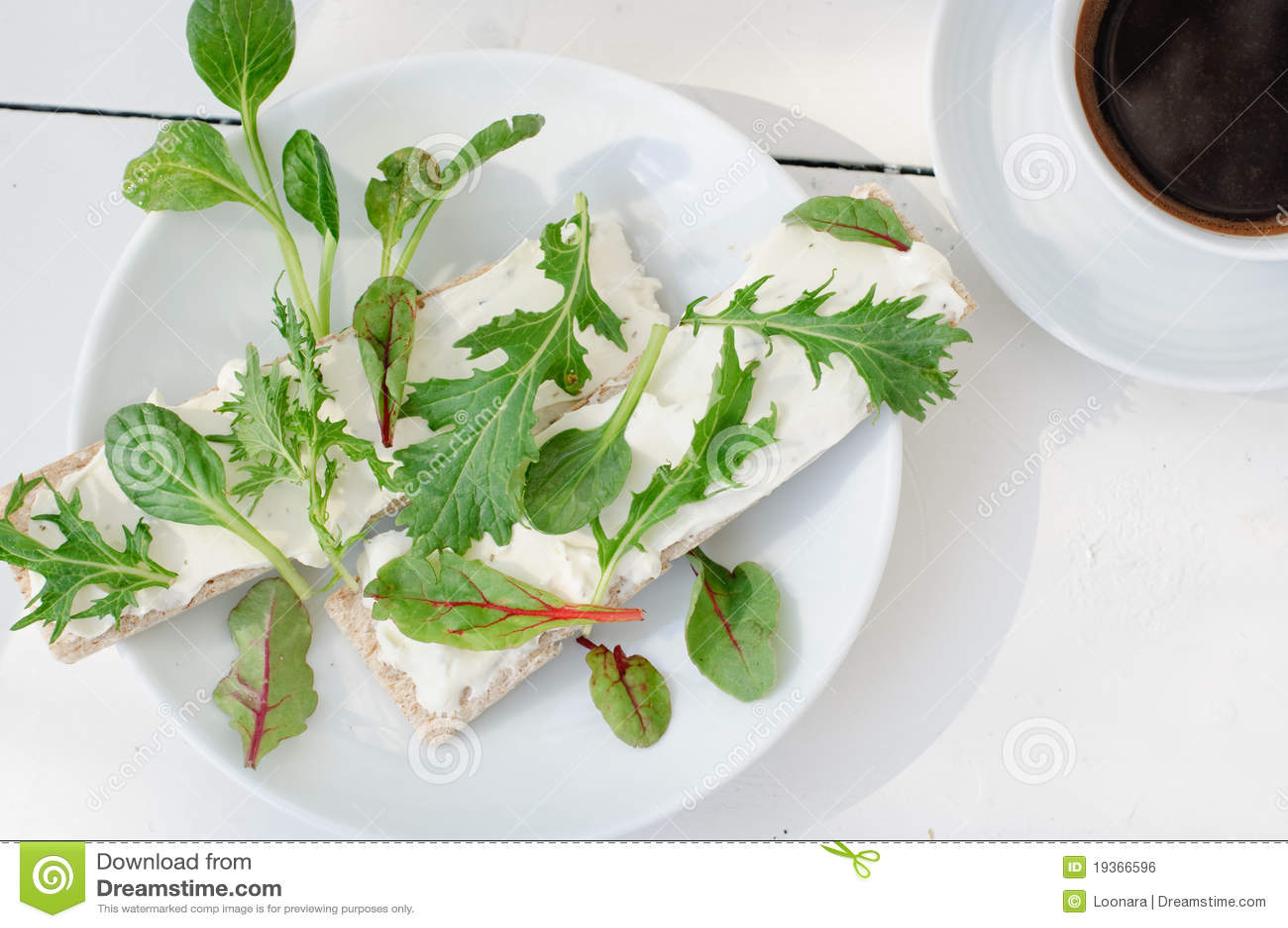 Pequeno almoço fresco do verão