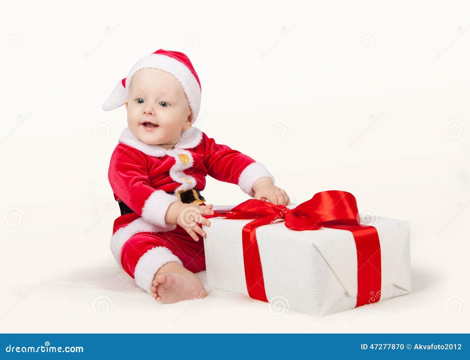 Peque o ni o vestido como pap noel foto de archivo - Foto nino pequeno ...