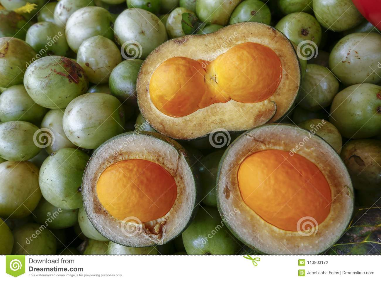 Pequi In Street Market Stall Stock Photo - Image of