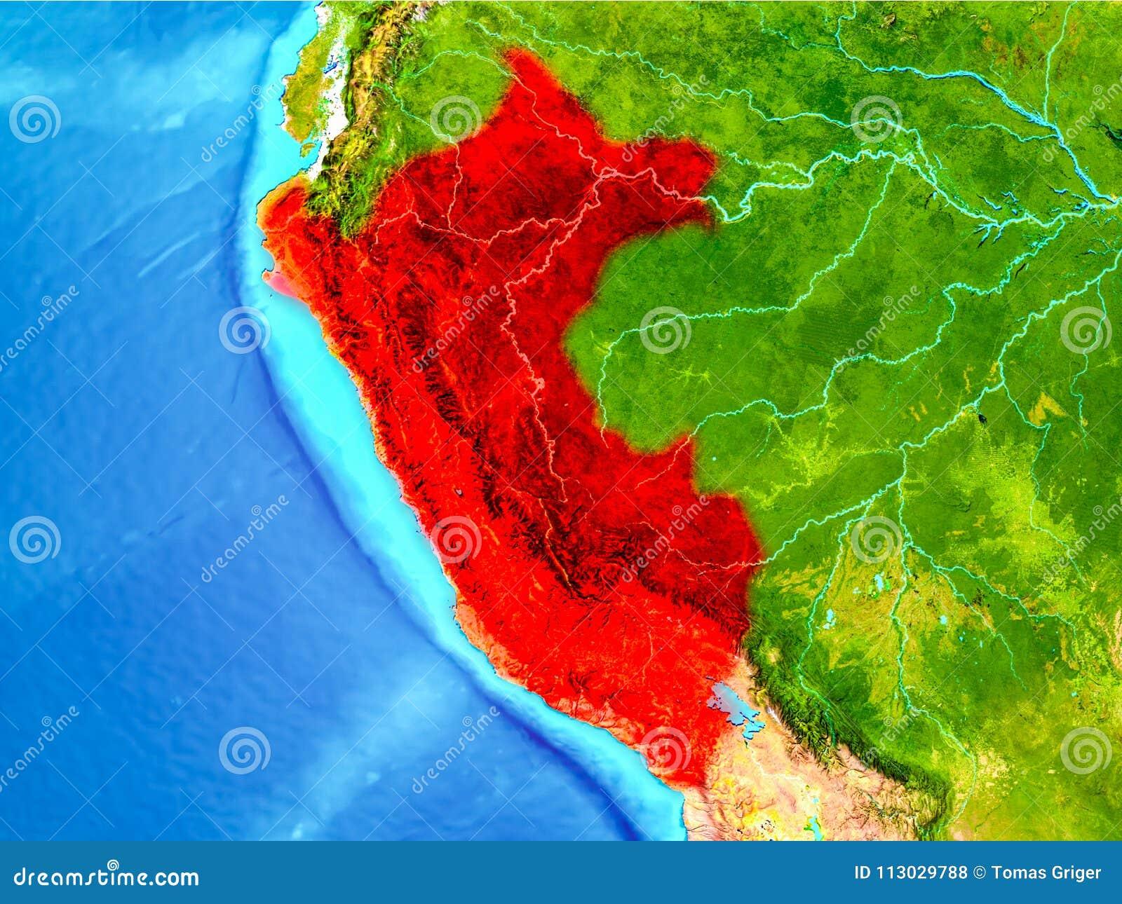 Perú en rojo en la tierra