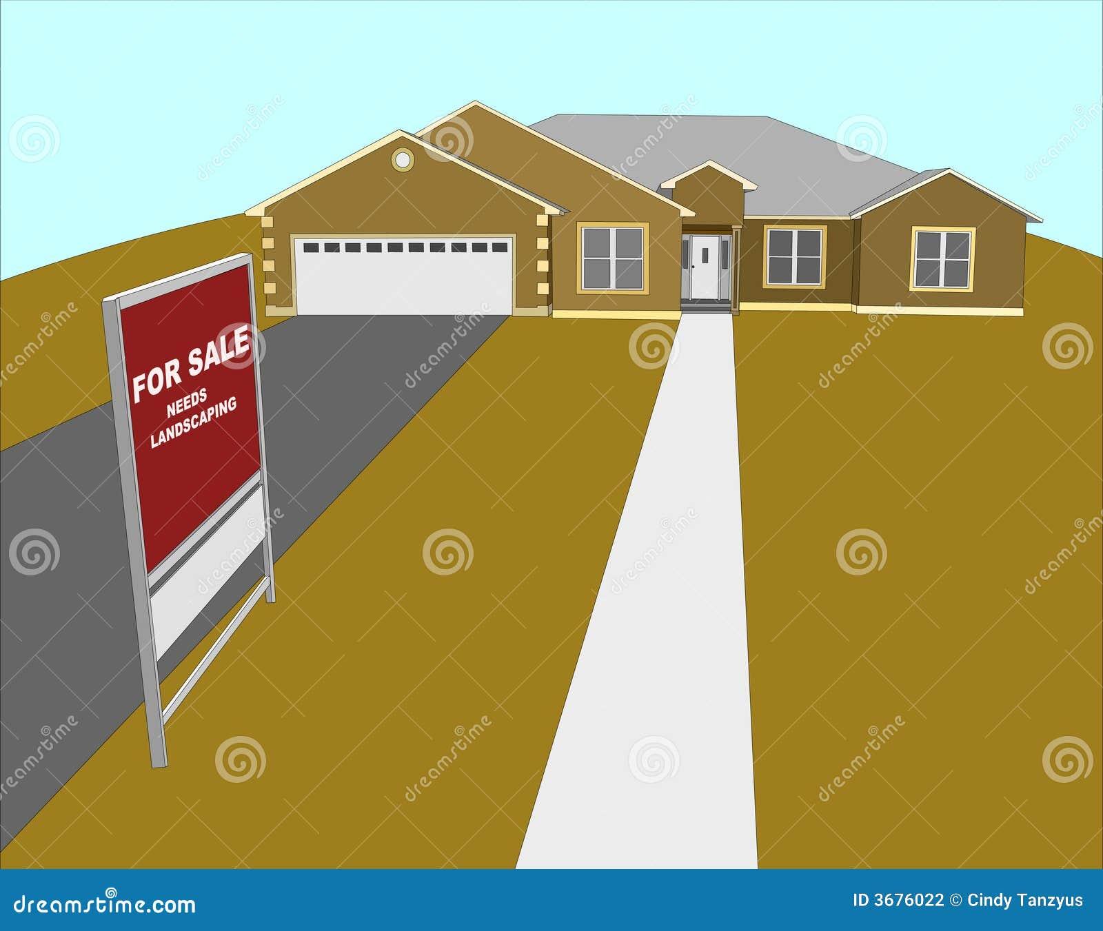 Download Per L'illustrazione Della Camera Di Vendita Illustrazione Vettoriale - Illustrazione di landscaping, costruzione: 3676022