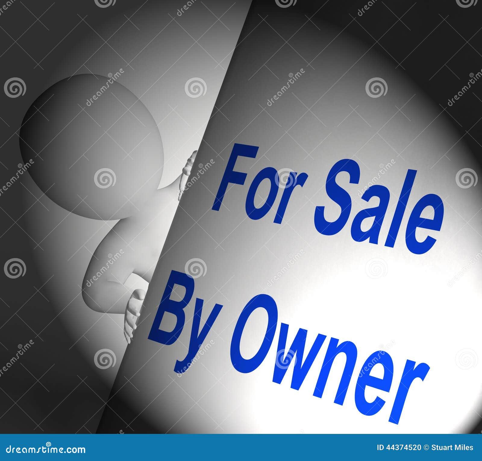 Per la vendita dal proprietario il segno visualizza l elenco e la vendita