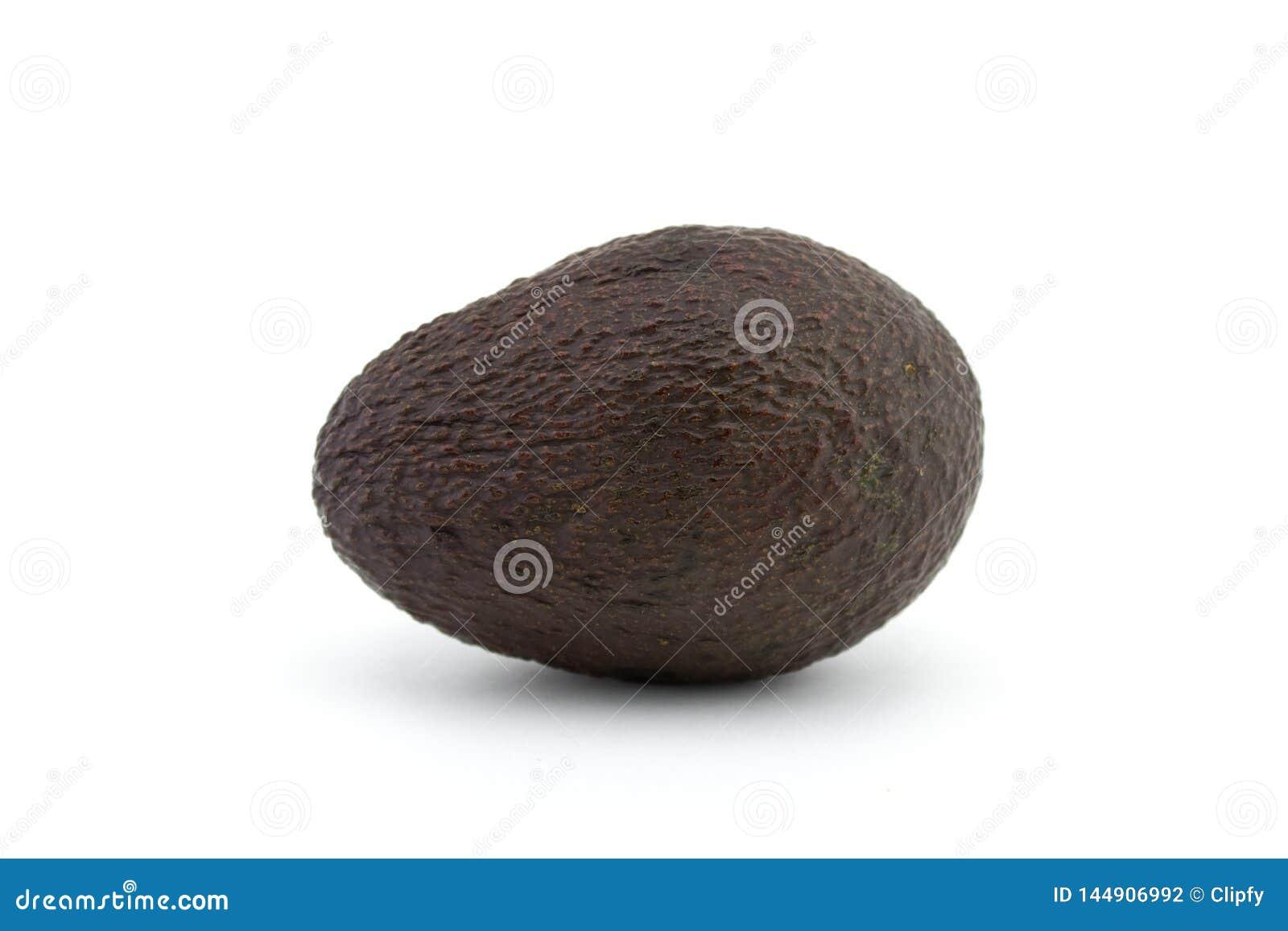 Pera do abacate ou de jacaré no fundo branco O abacate tem muitos nutrientes