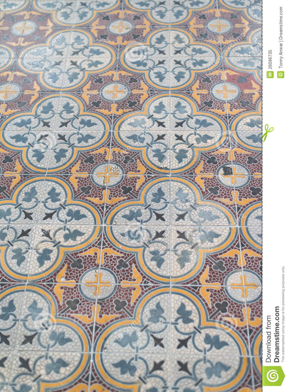 Peranakan Tile Flooring Royalty Free Stock Photo Image