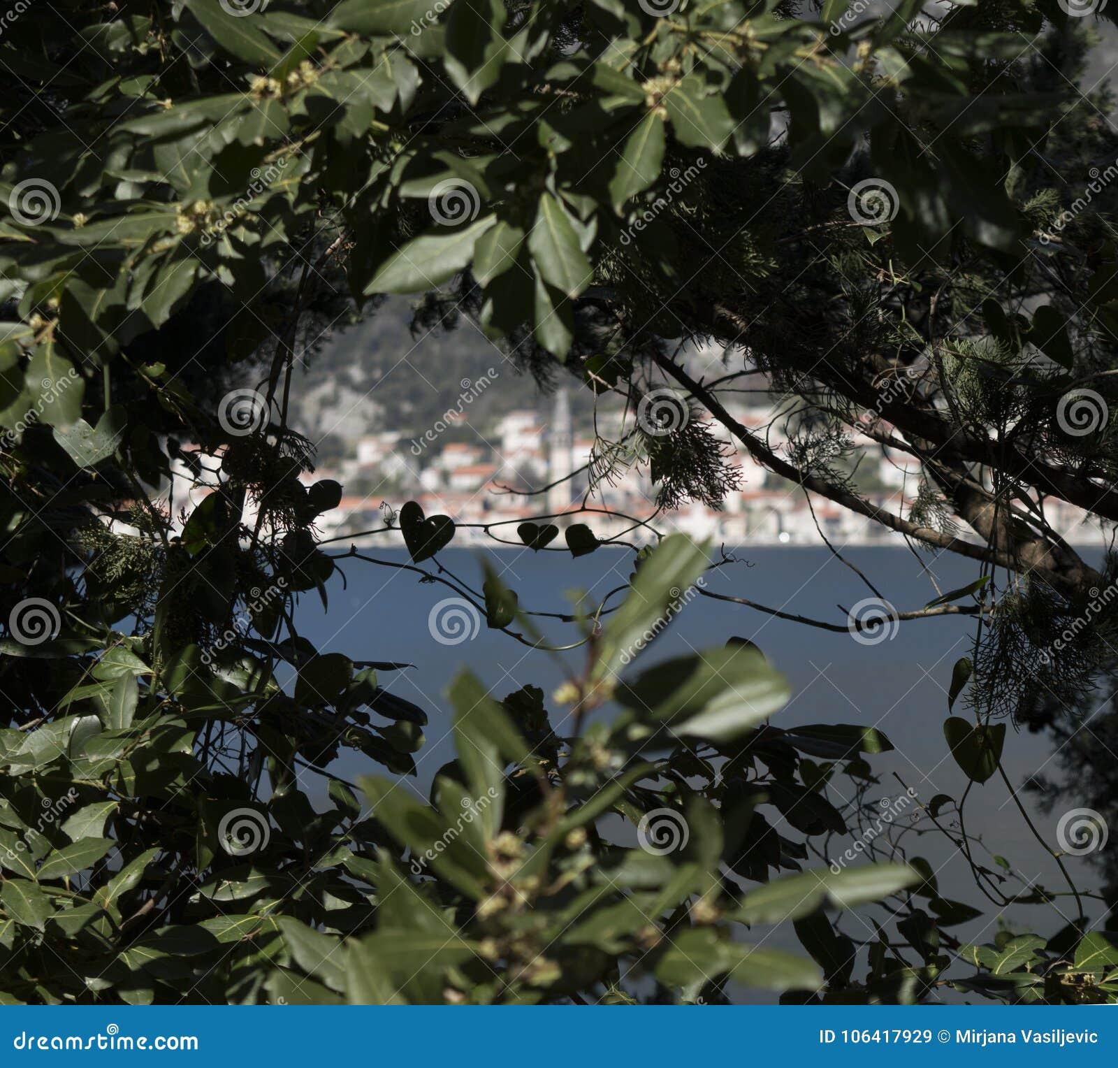 Perast, πόλη στο Μαυροβούνιο στην αδριατική θάλασσα