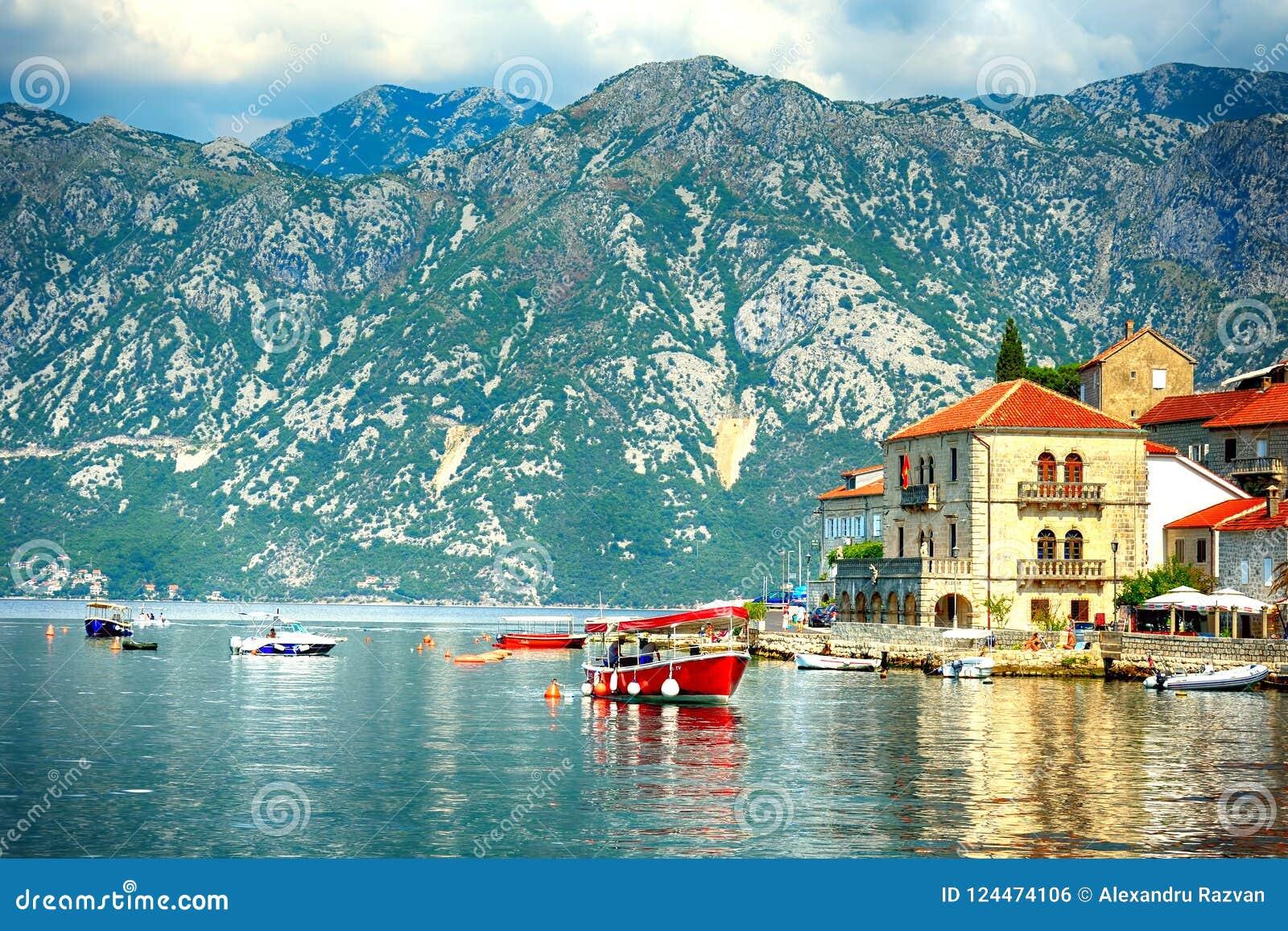 Perast fjärd, Montenegro