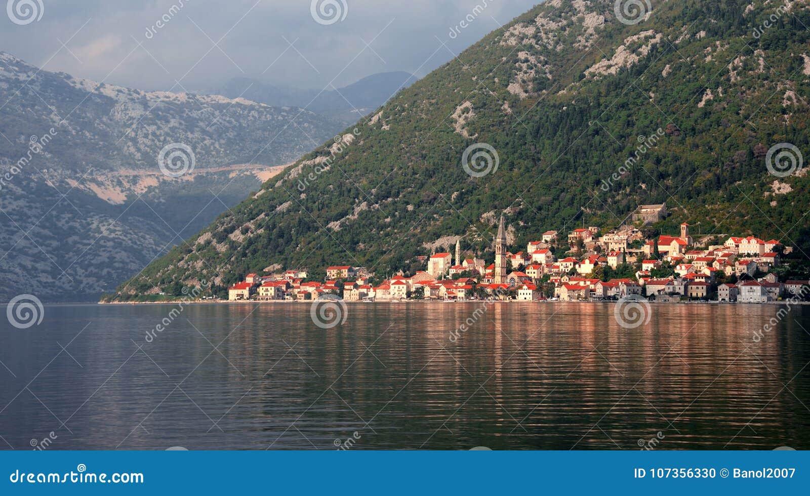 Perast, hidden ancient city. Reflection of centuries.