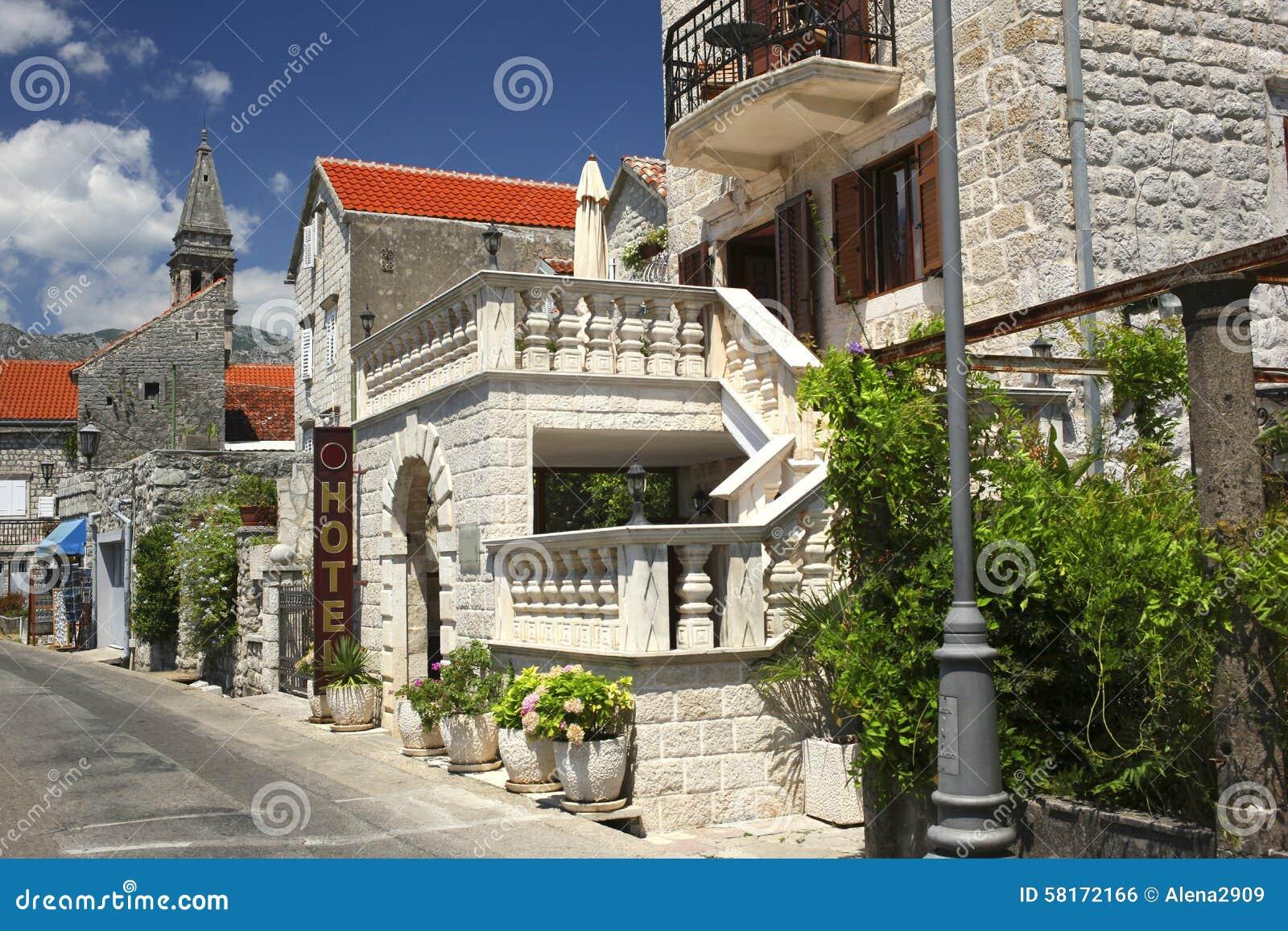 Perast kotor bay montenegro stock photo image 58172166 for Hotel design kotor