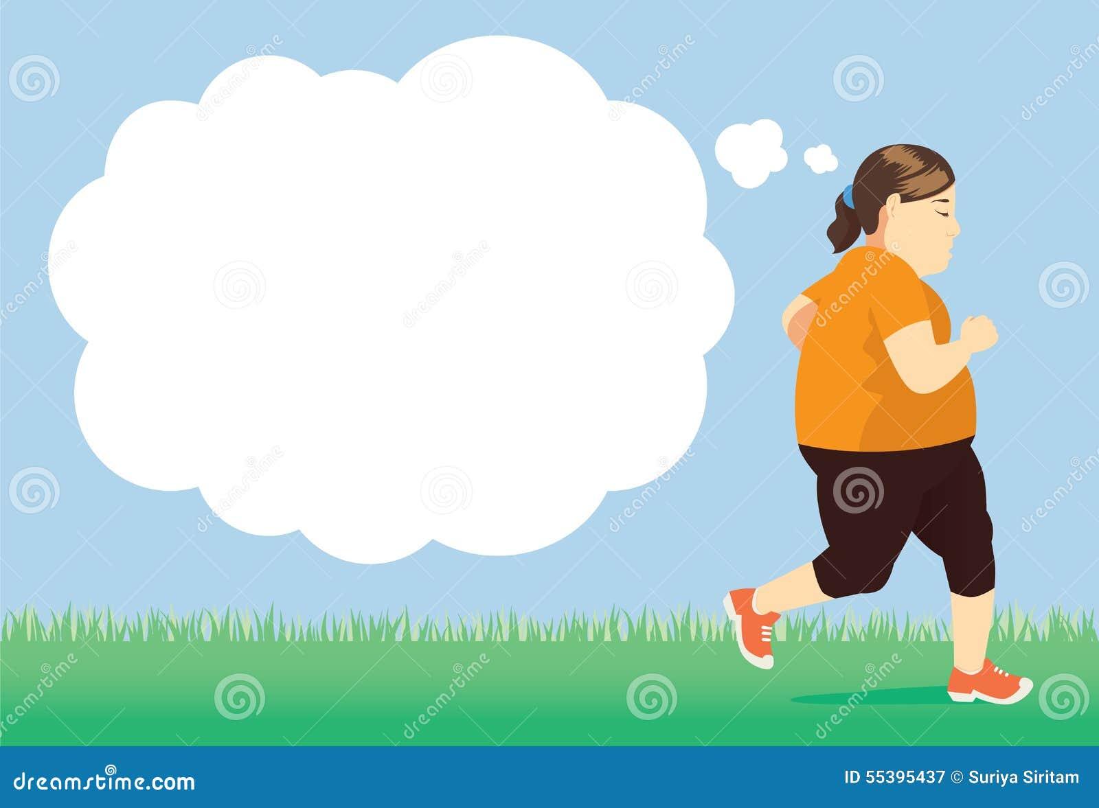 Perca o peso com a tentativa que movimenta-se no parque