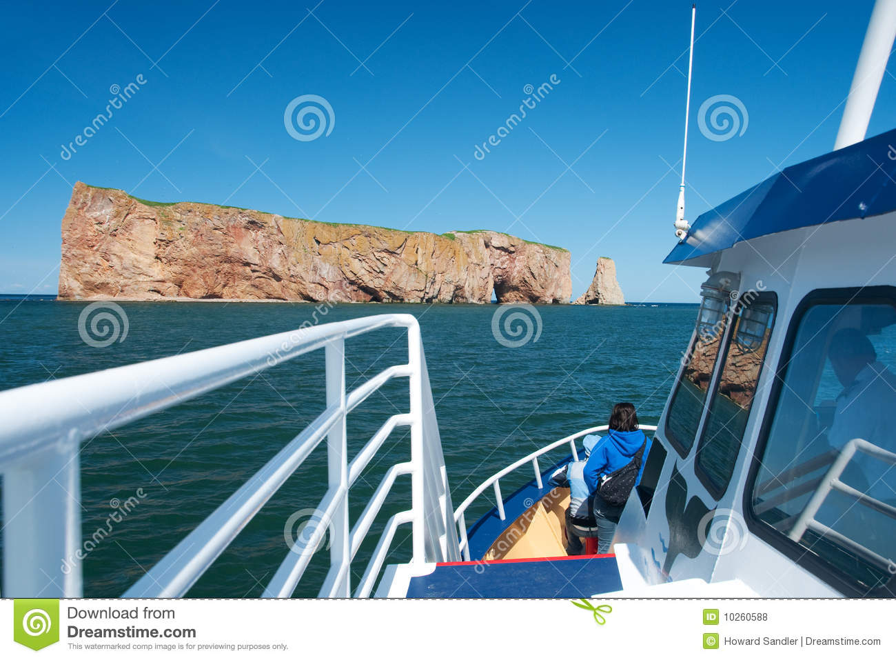 Perce Rock seen from a boat