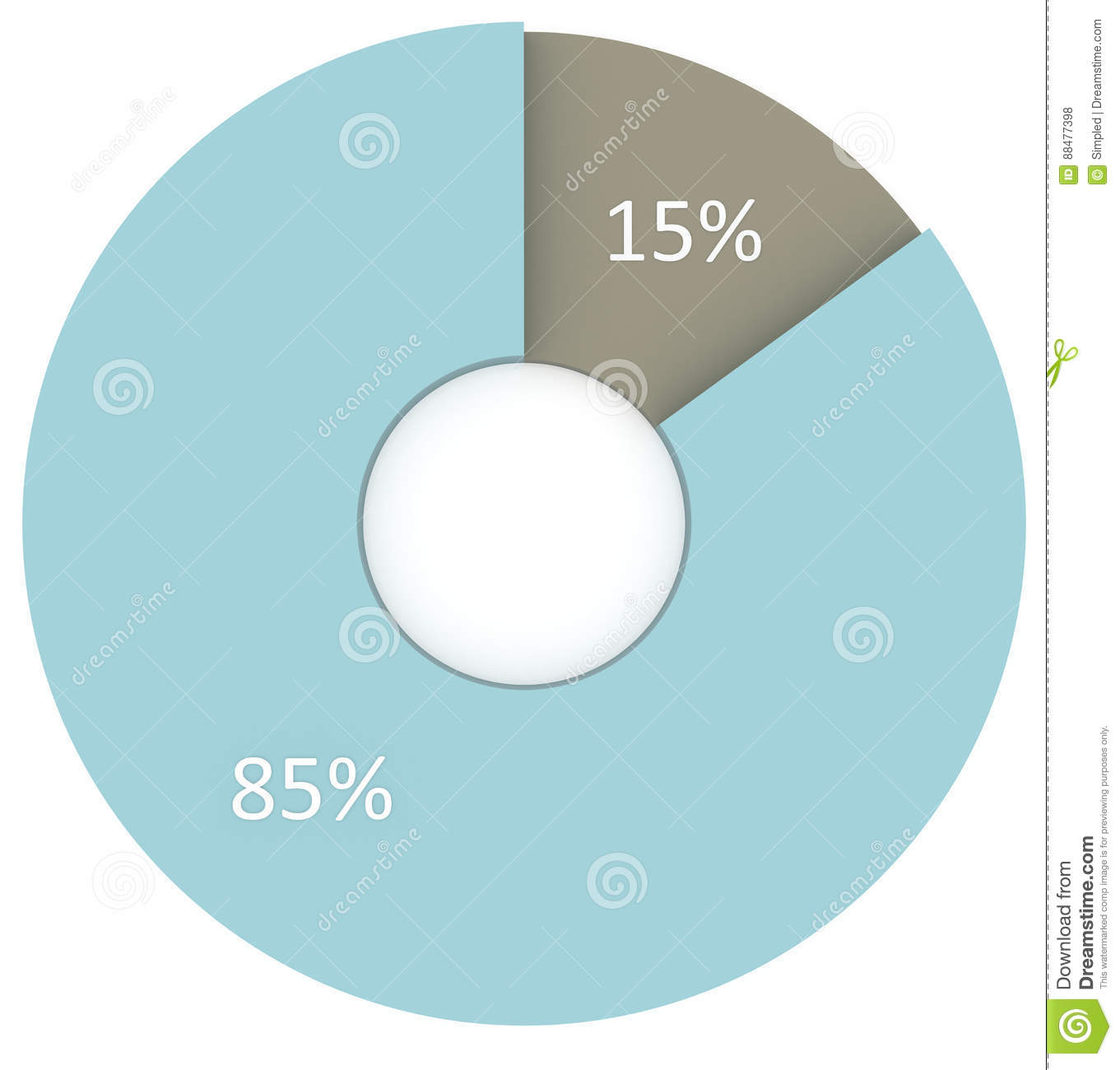 15 percent blue and grey circle diagram isolated stock 15 percent blue and grey circle diagram isolated nvjuhfo Image collections