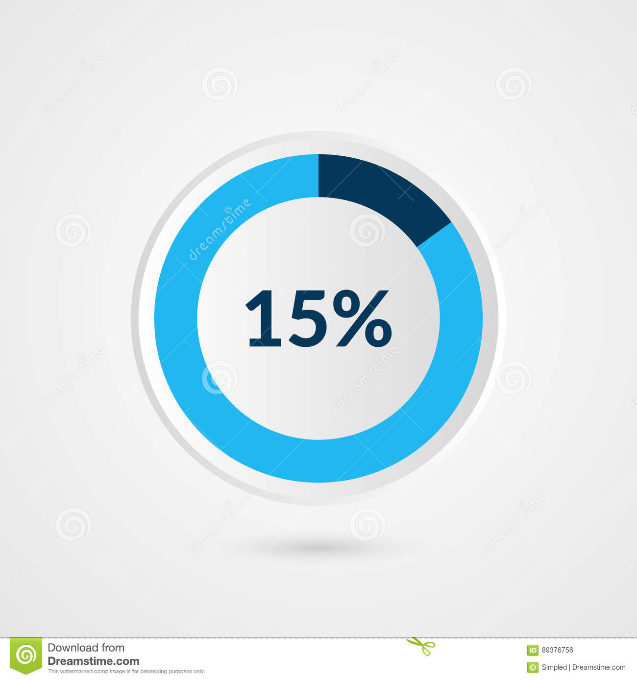 15 percent blue pie chart percentage vector infographics circle download 15 percent blue pie chart percentage vector infographics circle diagram business illustration stock ccuart Image collections
