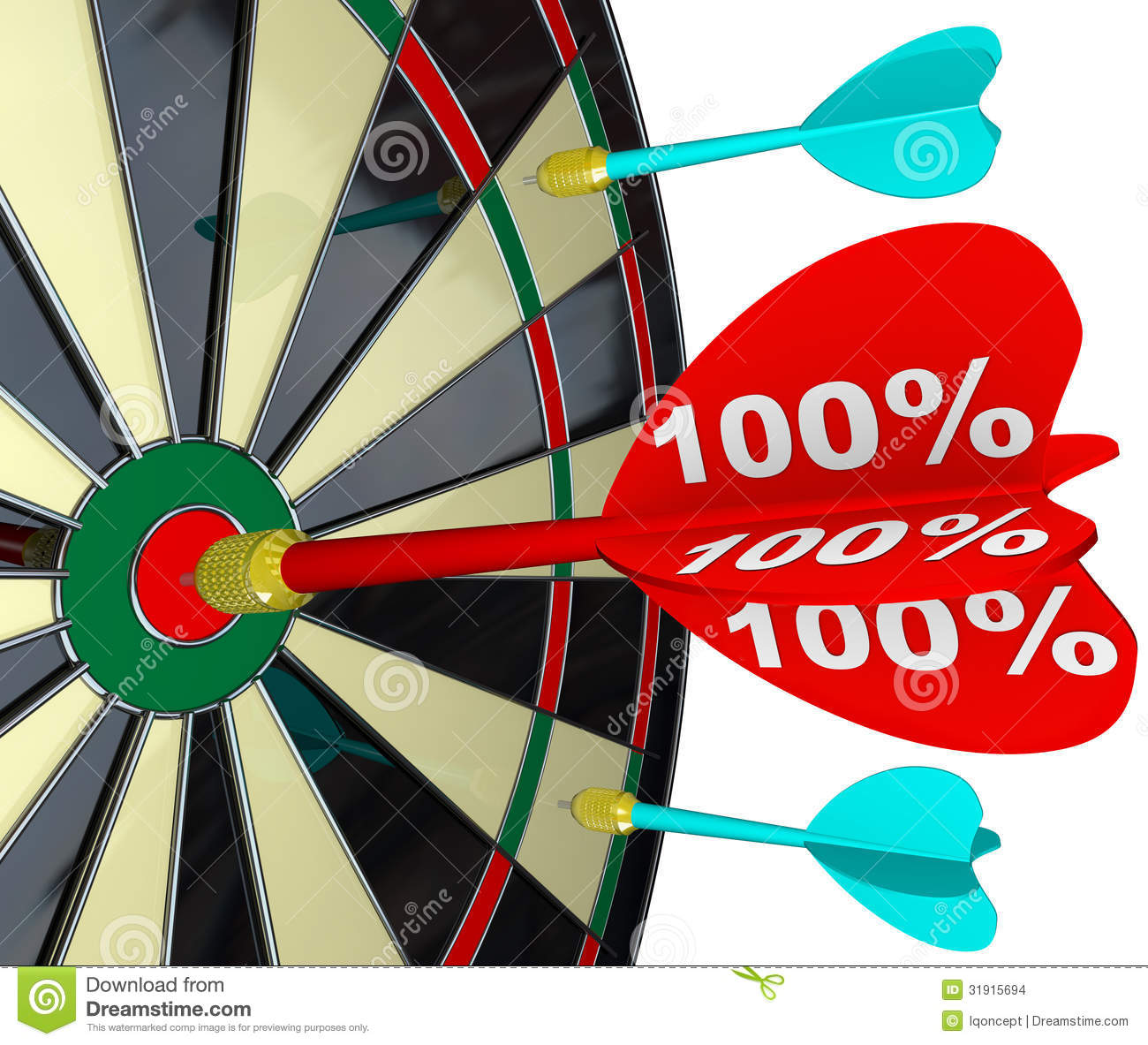 100 percent dart hitting dartboard perfect score stock illustration illustration of dartboard. Black Bedroom Furniture Sets. Home Design Ideas
