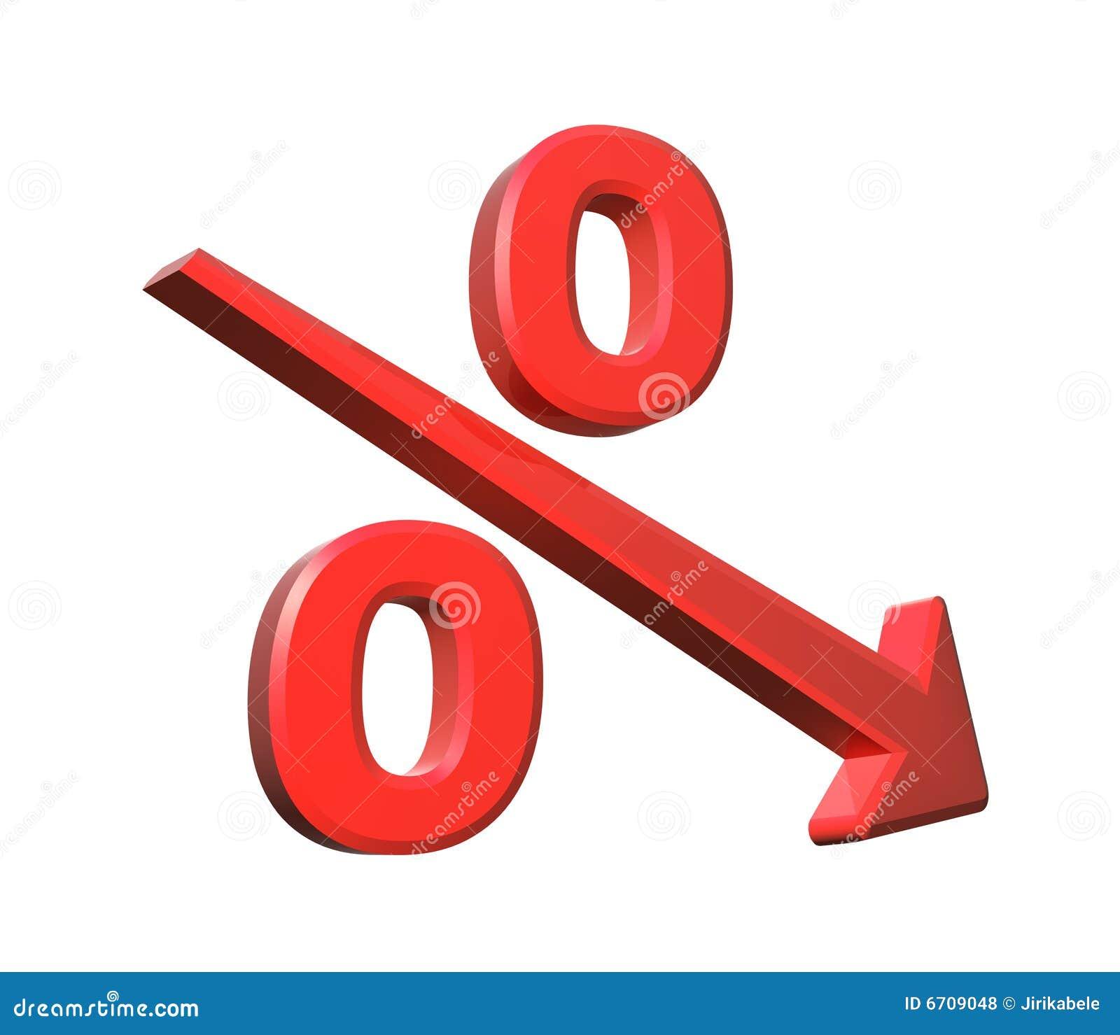 Royalty Free Stock Photos  Percent decreaseDecrease Arrow