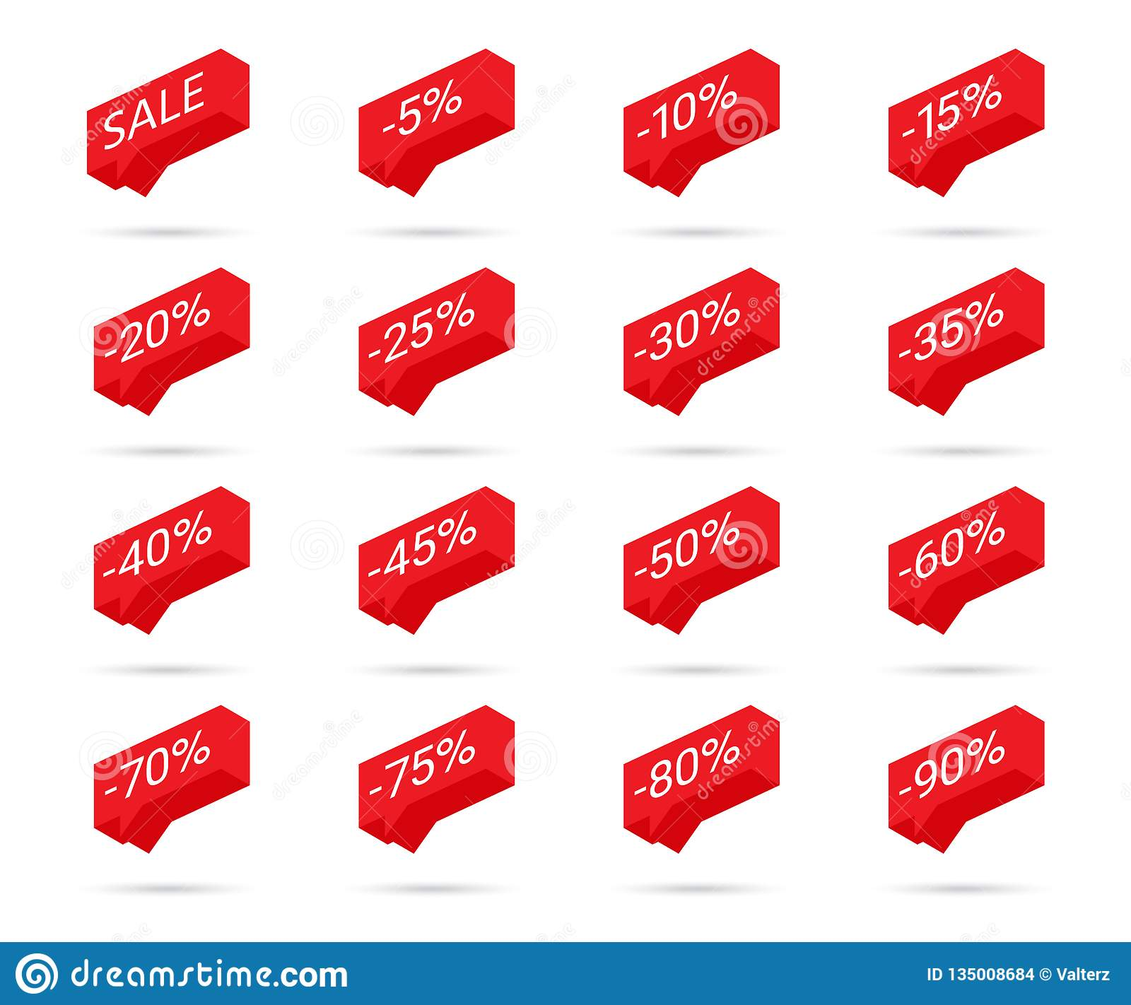 Percent Discount Icons  Sale Discount Icons  Discount Tag