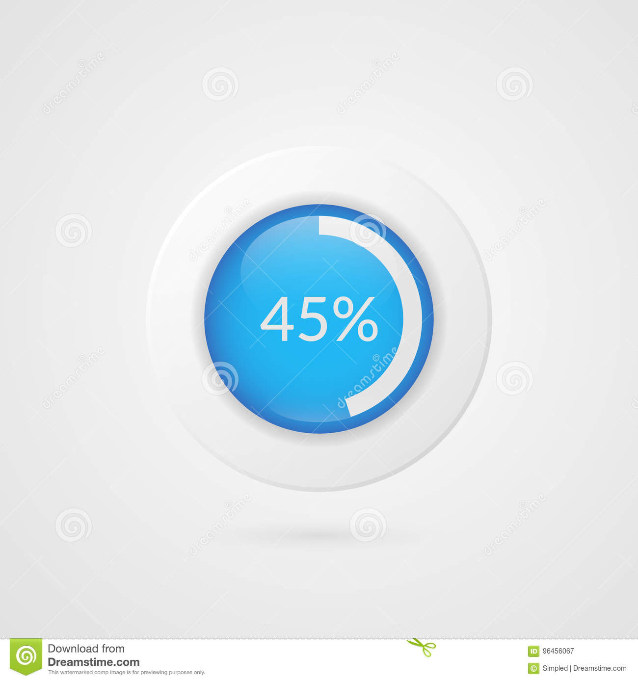 45 percent pie chart percentage vector infographics circle diagram percentage vector infographics circle diagram isolated symbol business download comp ccuart Image collections