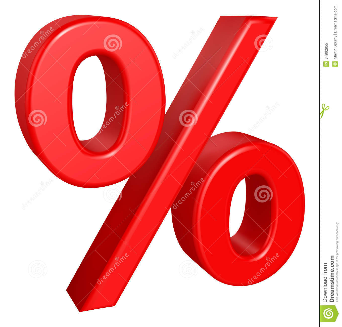 Percent Sign Royalty Free Stock Photo - Image: 34862855