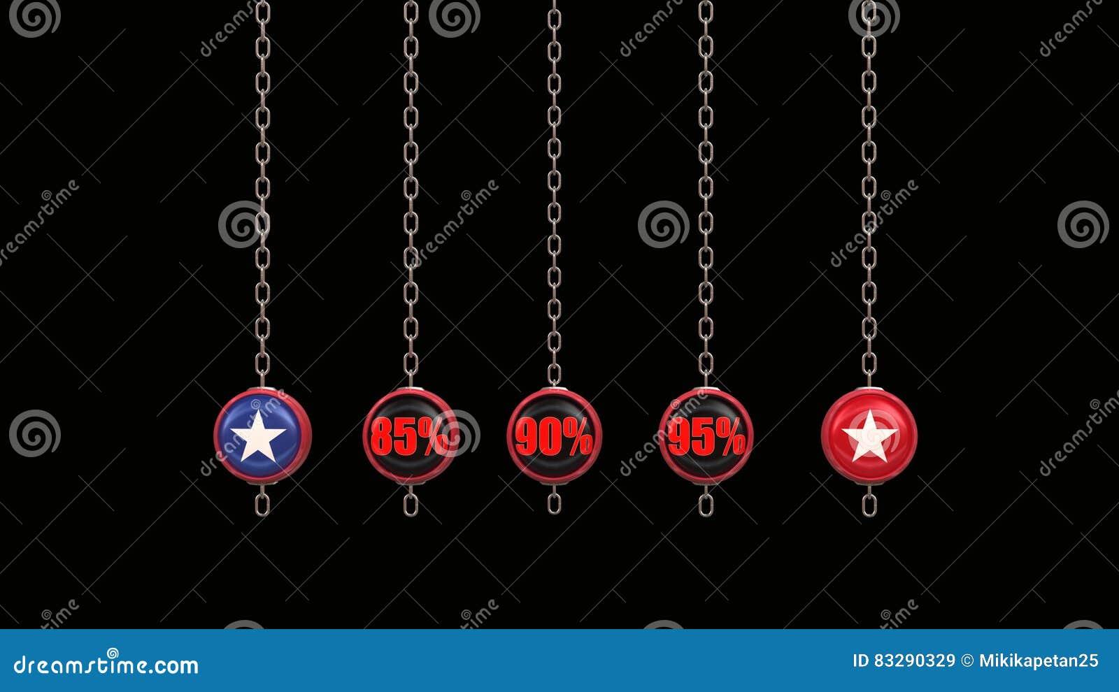 Percentage Numbers Series 3d render