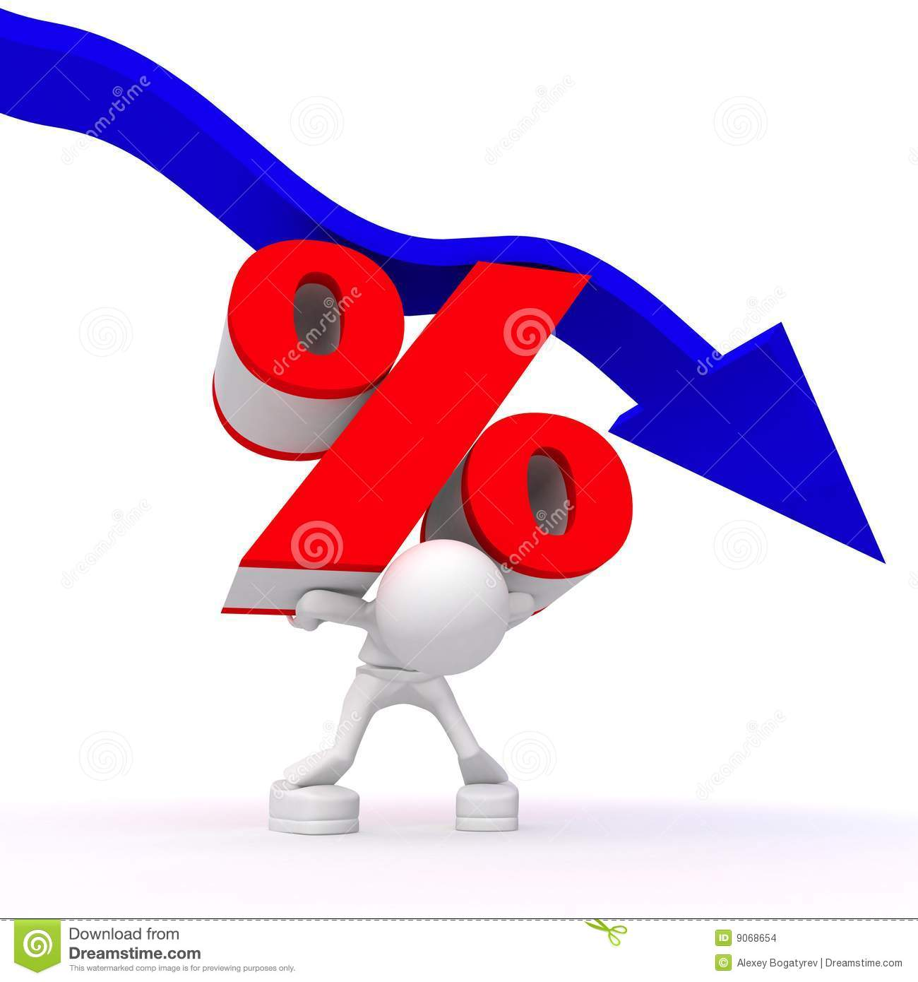 More similar stock images of ` Percentage rate decrease `