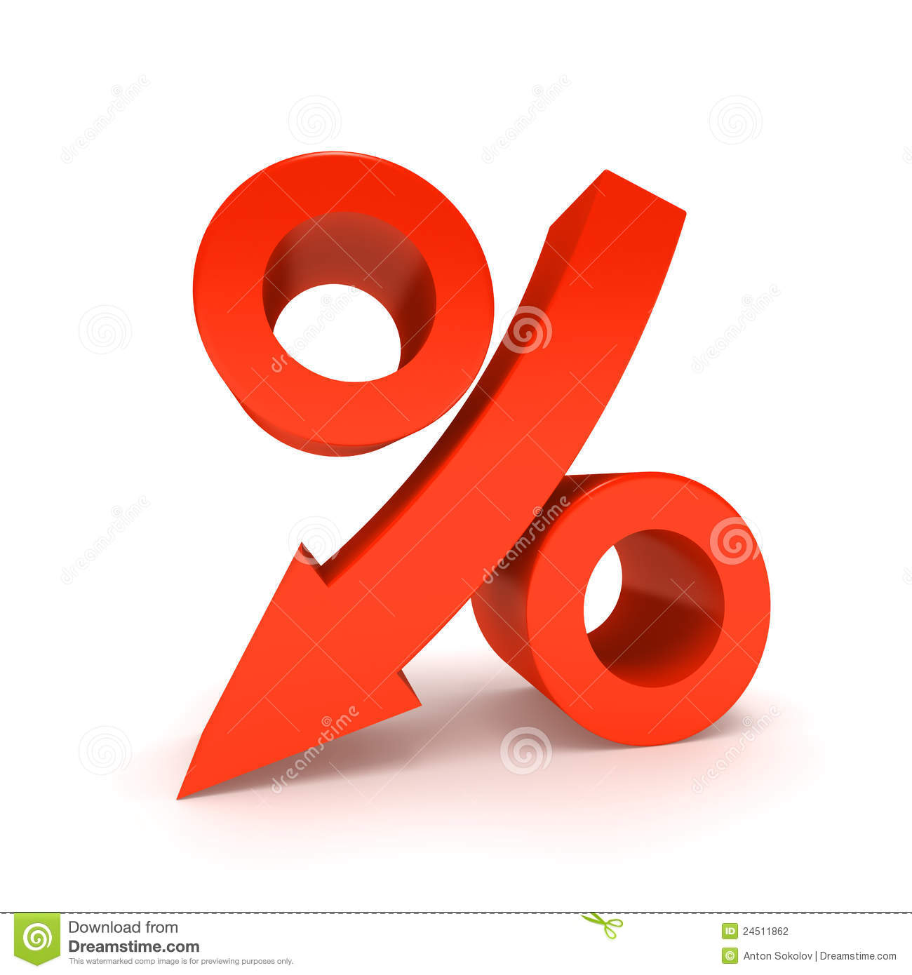 Percentage Sign. Stock Photography - Image: 24511862
