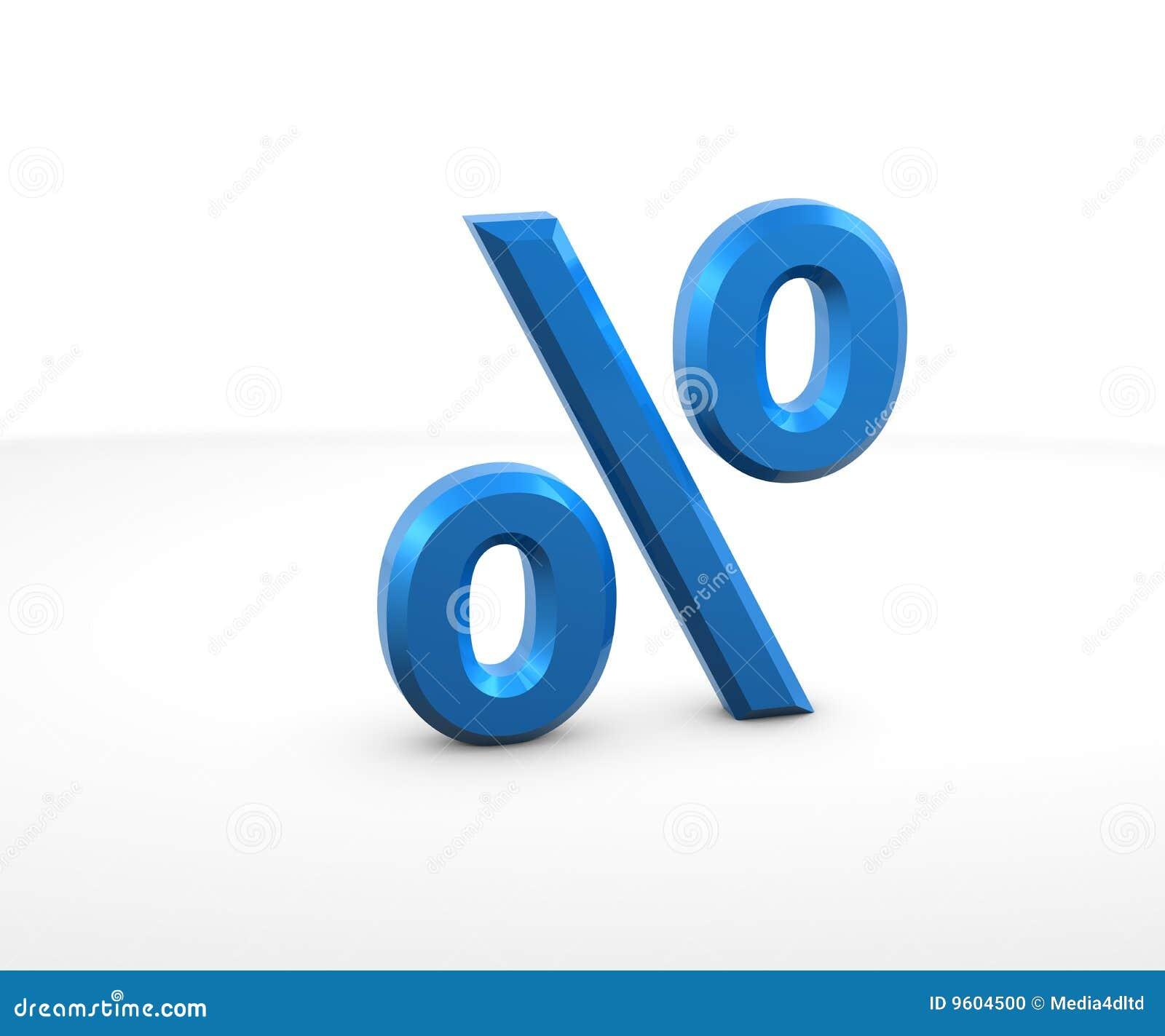 Percentage Sign Stock Photo - Image: 9604500