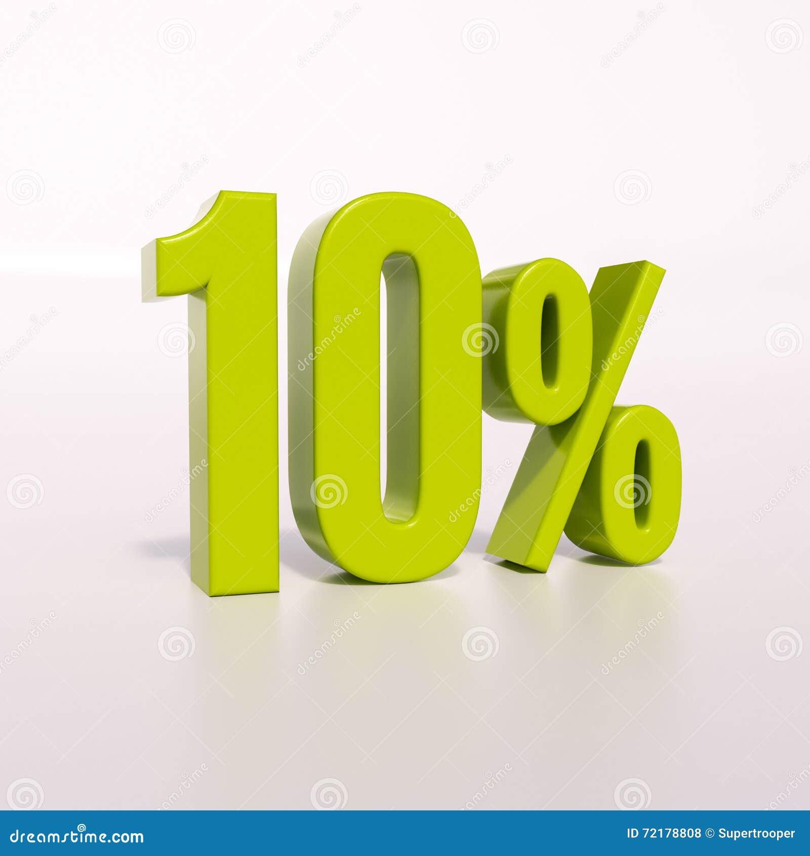 Percentageteken, 10 percenten