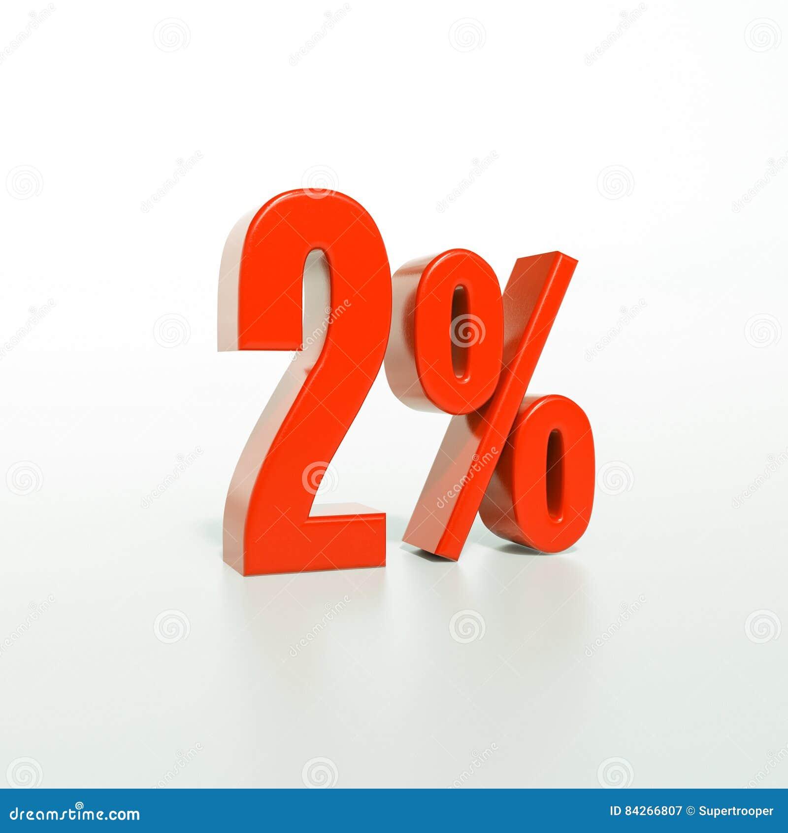 Percentageteken, 2 percenten