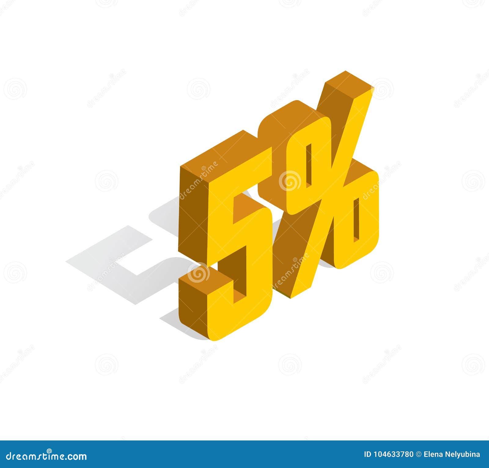 Download 5% Percenten Weg, Verkoop, Gouden-geel 3D Voorwerp Geïsoleerde Witte Achtergrond Eps10 Vector Vector Illustratie - Illustratie bestaande uit zaken, etiket: 104633780