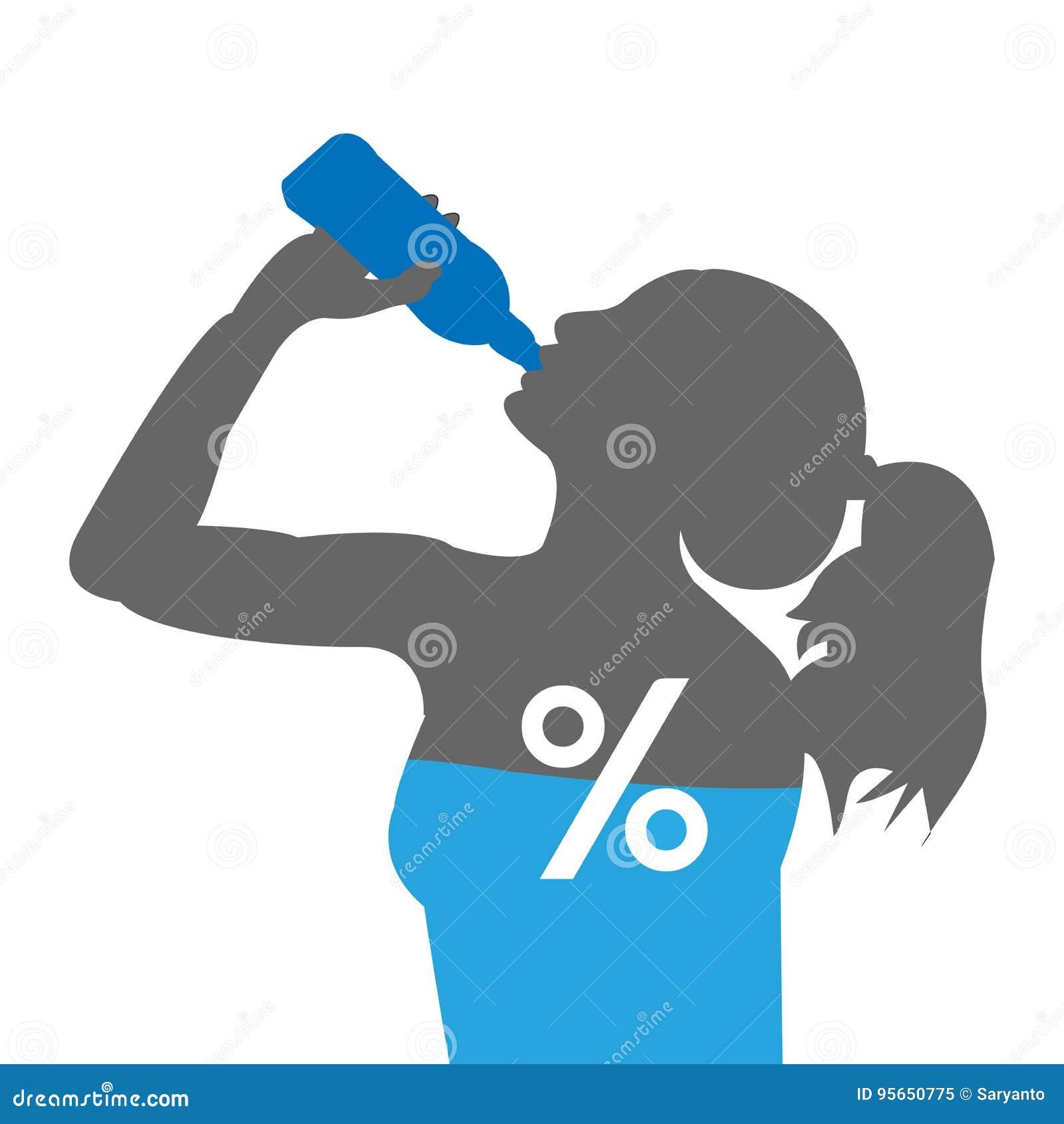 Percentuale Dell Acqua Nel Corpo Illustrazione Vettoriale