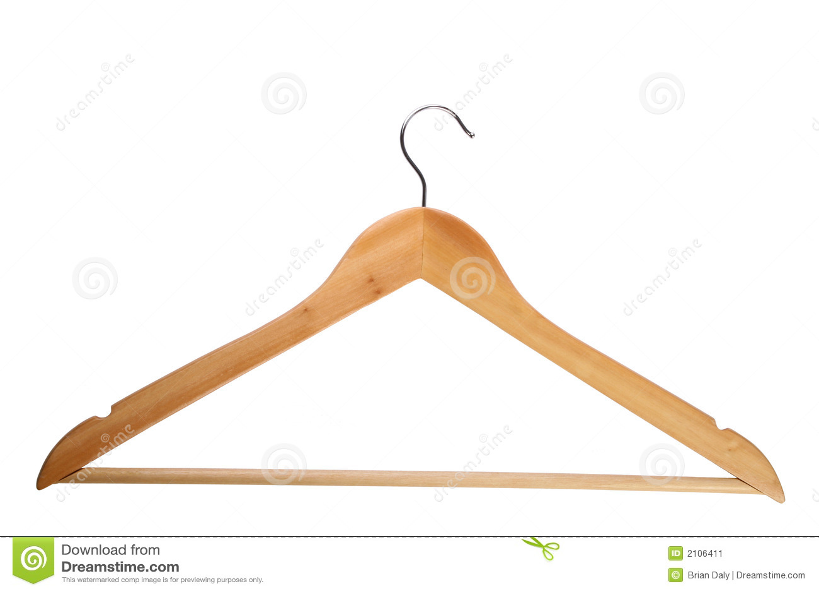 Percha de capa de madera