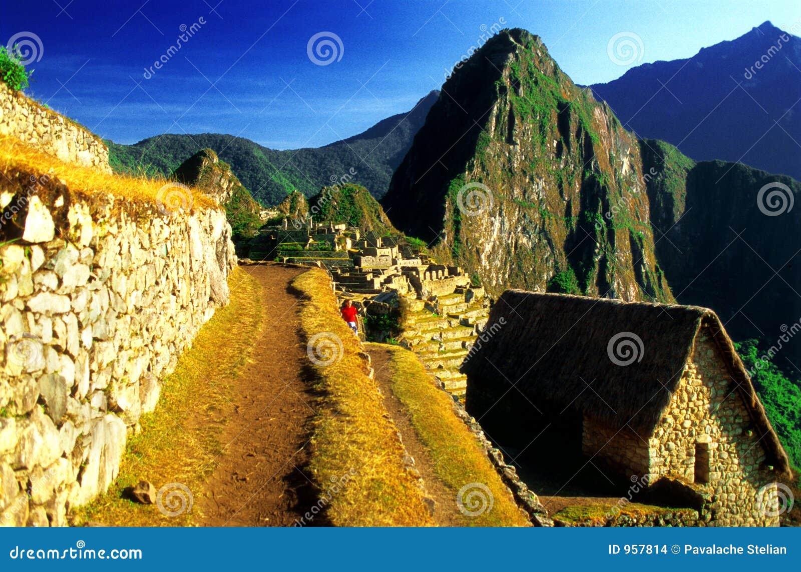 Percorso del terrazzo di Machu Pichu