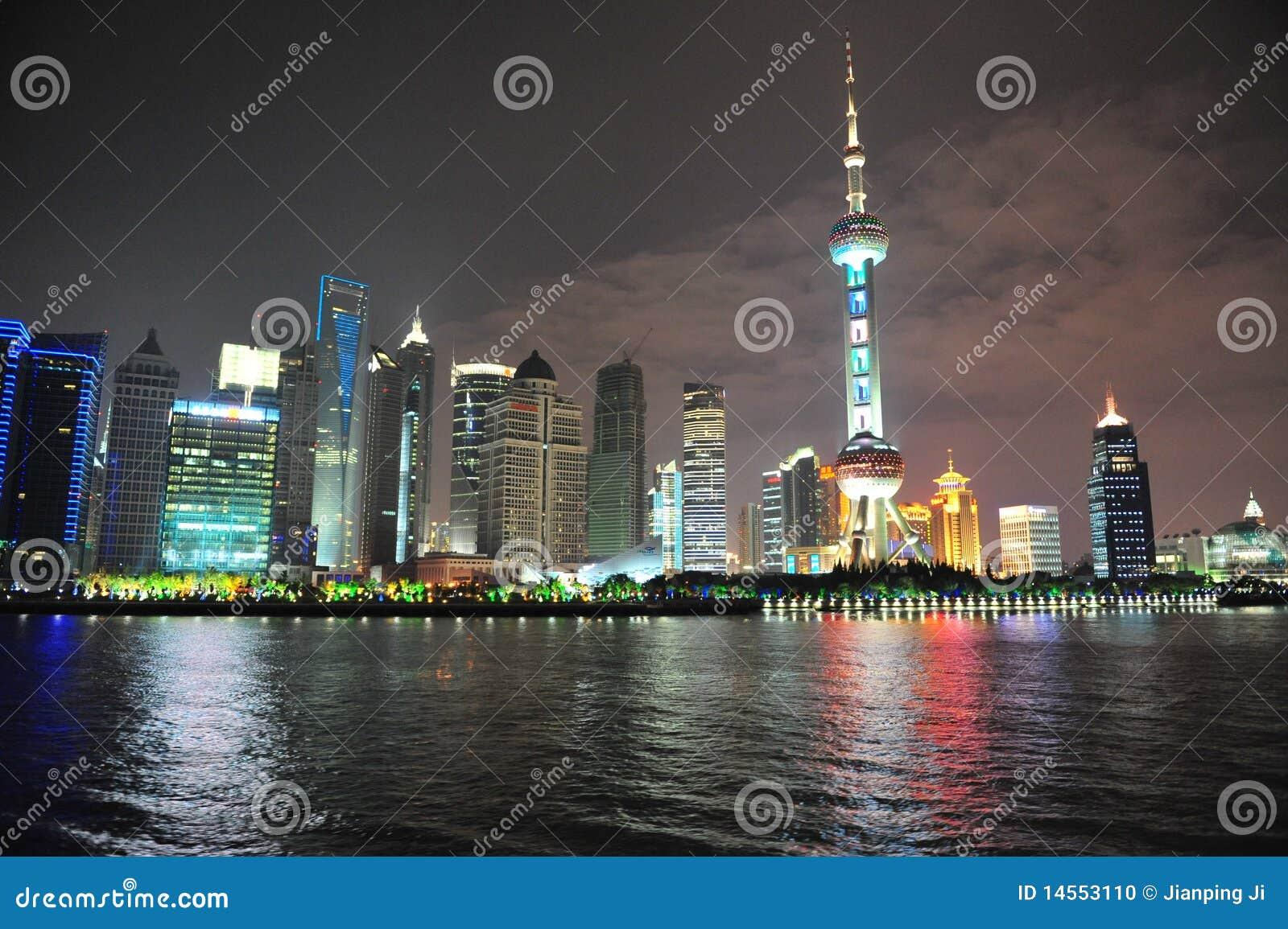 Perełkowy Orient jaskrawy putong Shanghai transmituje