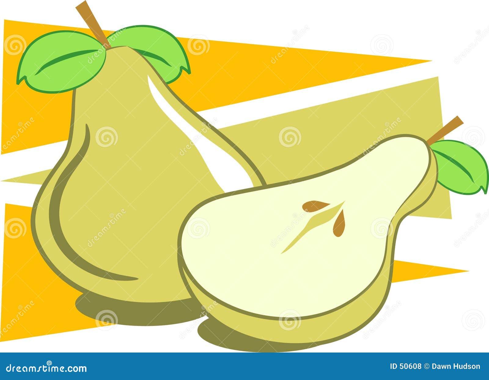 Download Pere illustrazione vettoriale. Illustrazione di semi, edibles - 50608