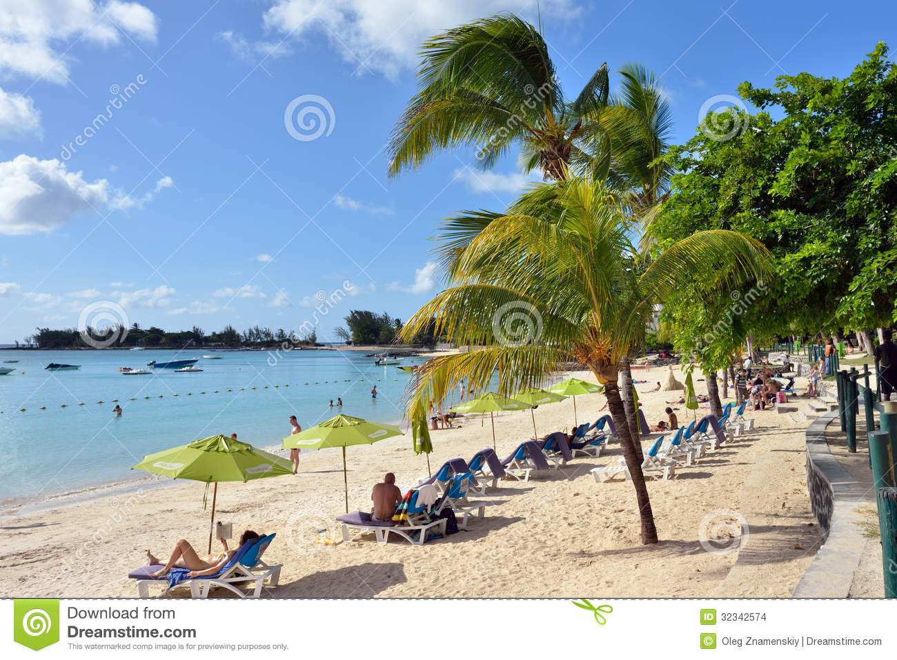 Pereybere beach, Mauritius editorial stock image. Image of ...