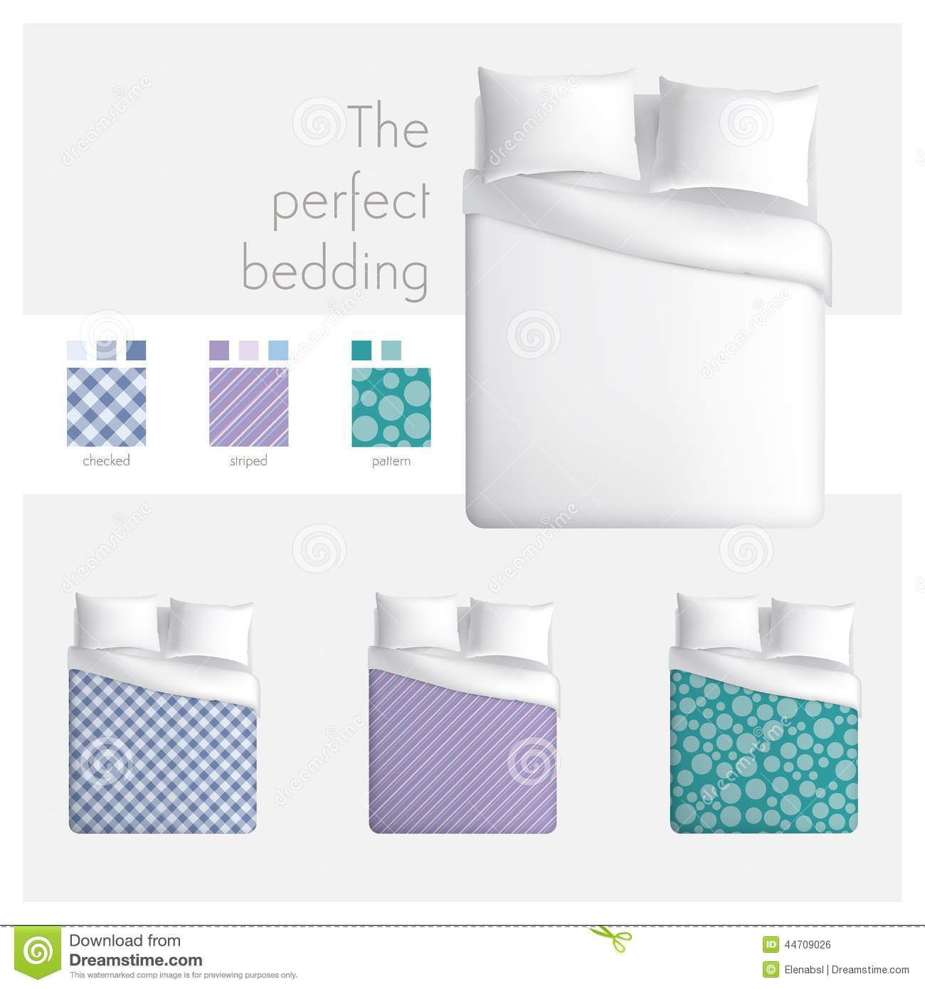 The Perfect Bedding Stock Vector - Image: 44709026
