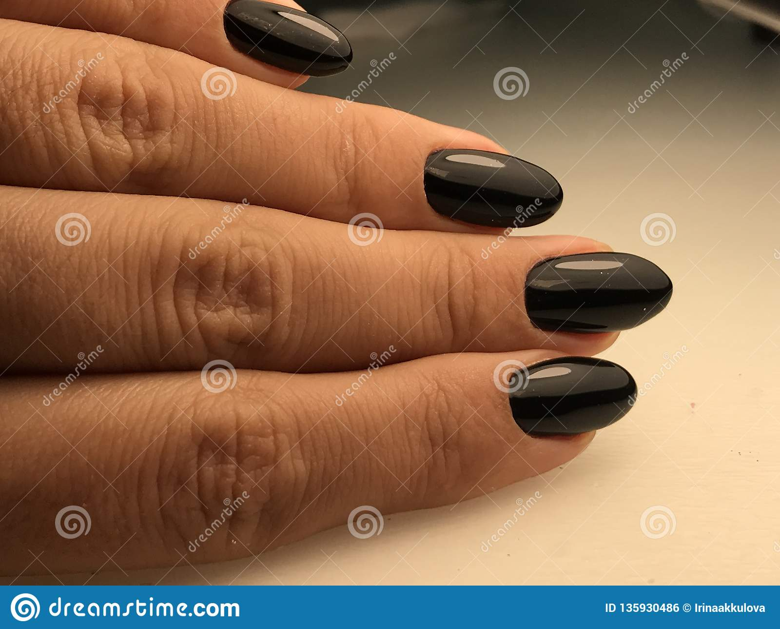 Perfect black nails stock photo  Image of clean, christmas