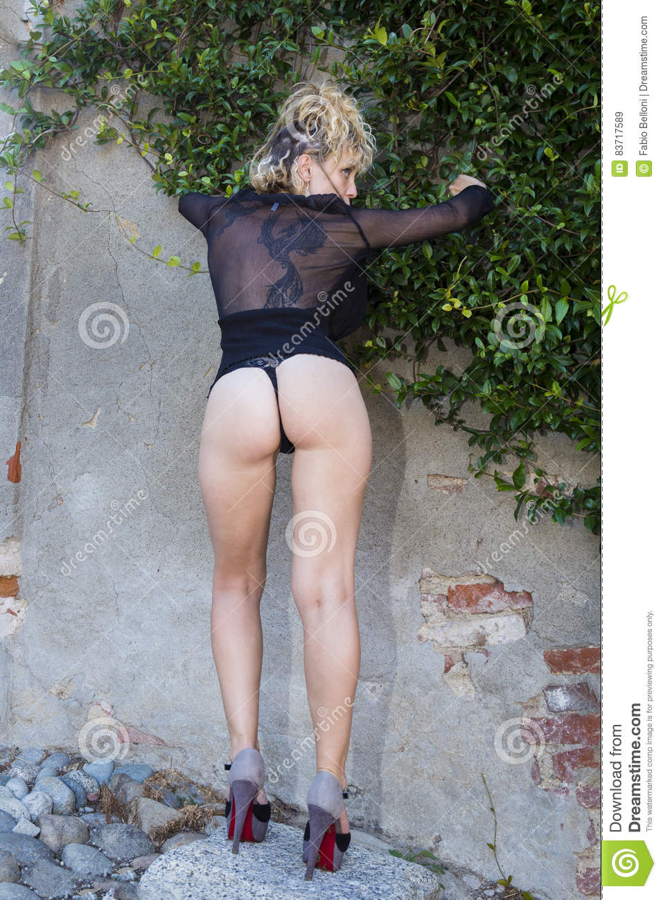 Perfect Blonde Stock Photo