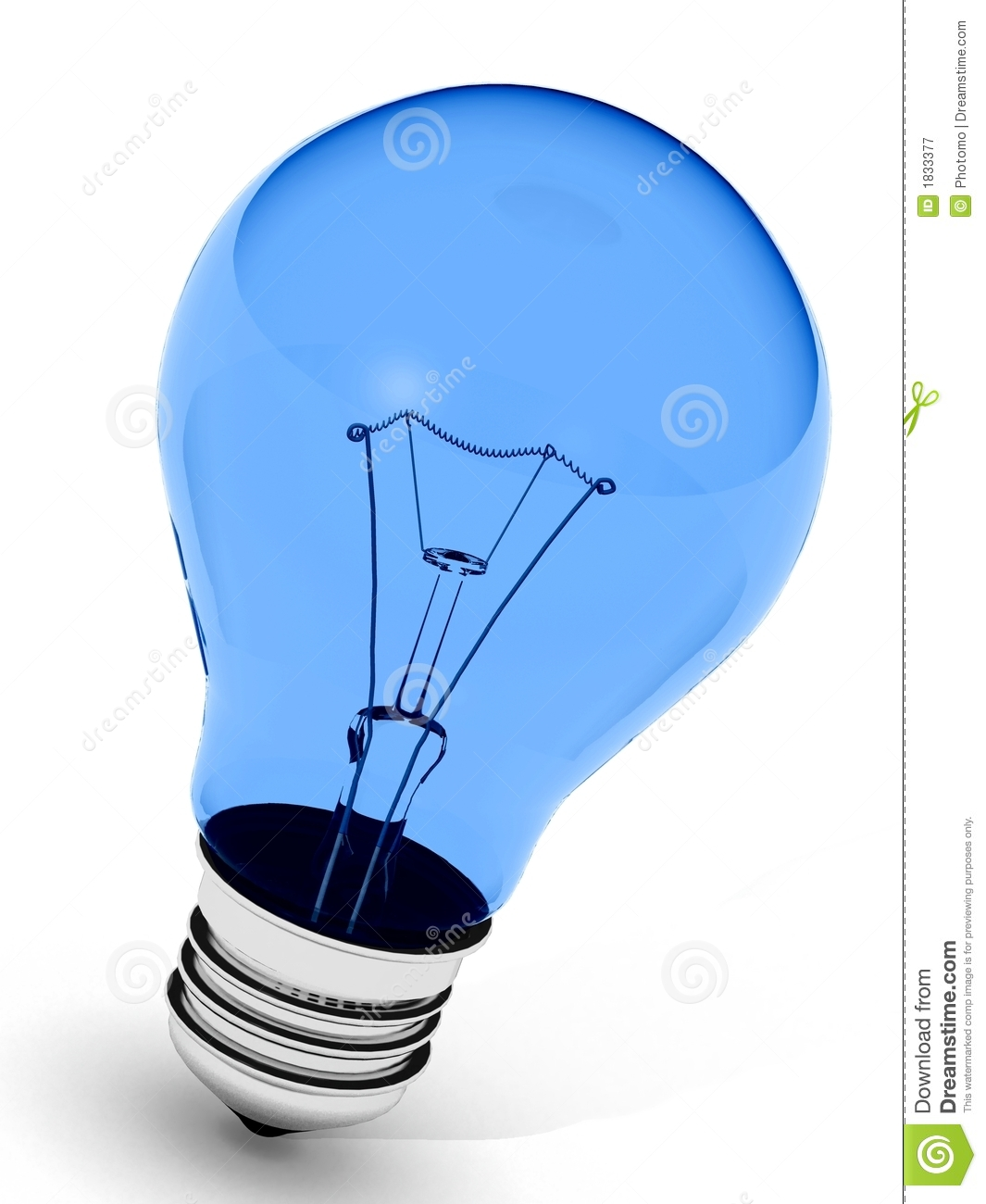 Perfect Blue lightbulb over white background (more colors available in ...