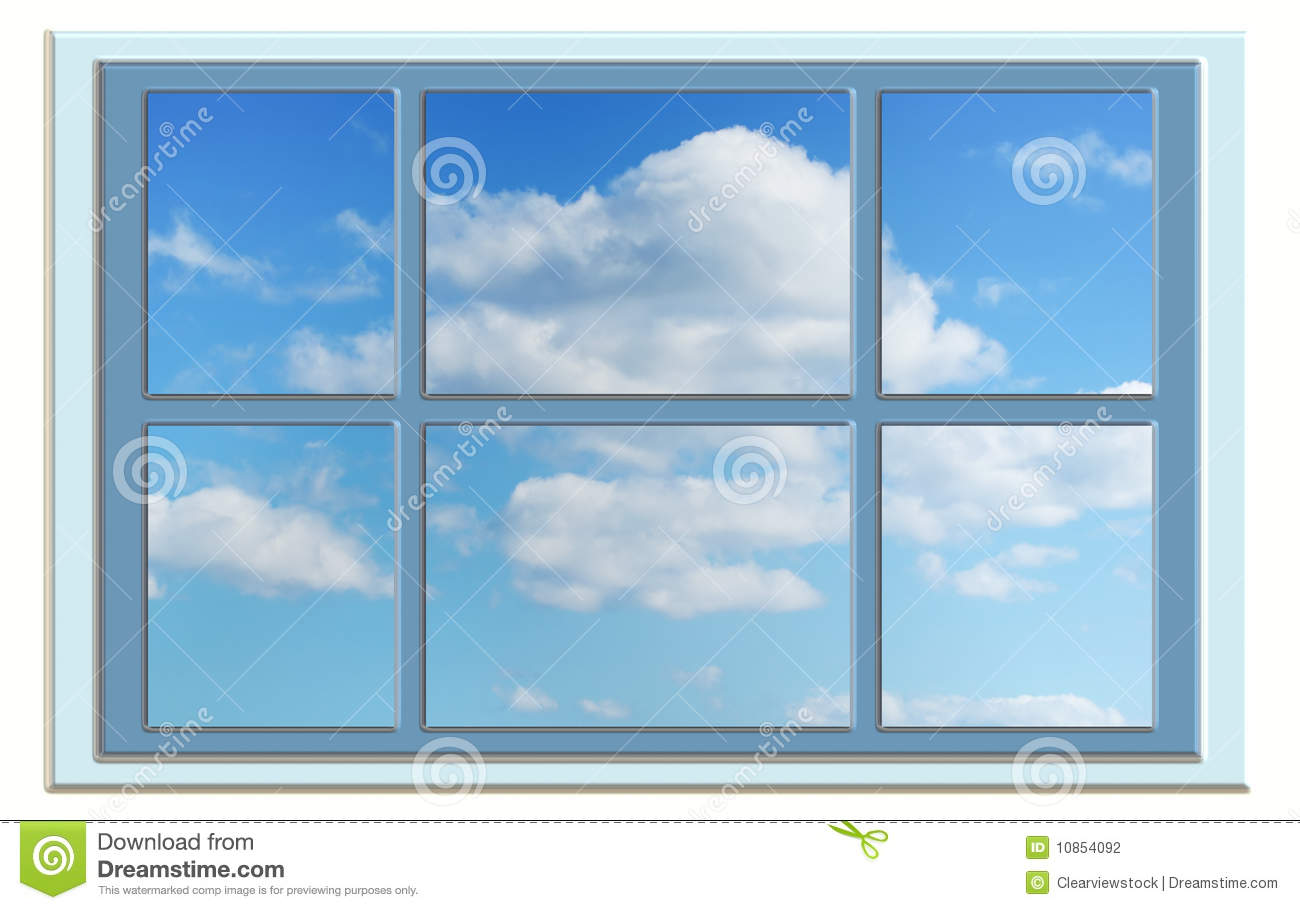 Perfect Blue Sky Through The Window Stock Photography