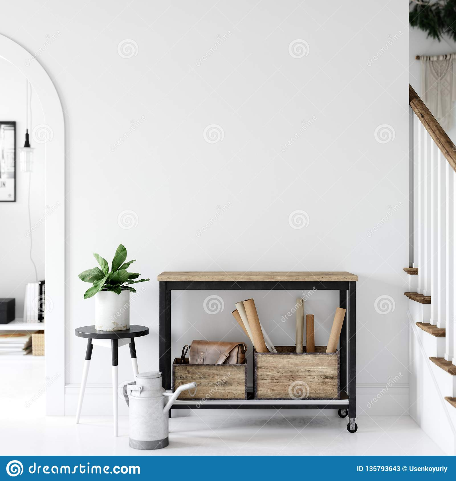 Outstanding Living Room Interior Wall Mockup Wall Art 3D Rendering Download Free Architecture Designs Pushbritishbridgeorg