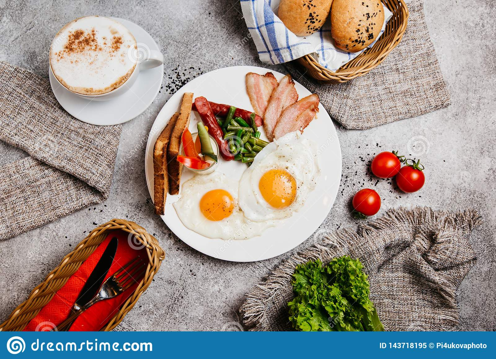 Perfect breakfast with coffee