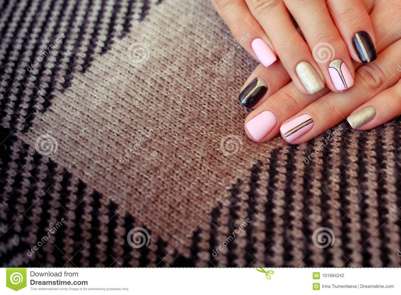 Perfect Clean Manicure With Zero Cuticle. Nail Art Design For The ...