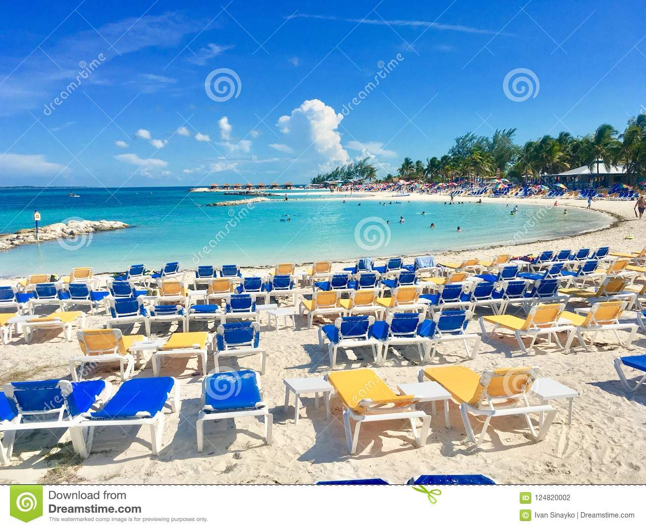 perfect day cococay island bahamas editorial photography image of