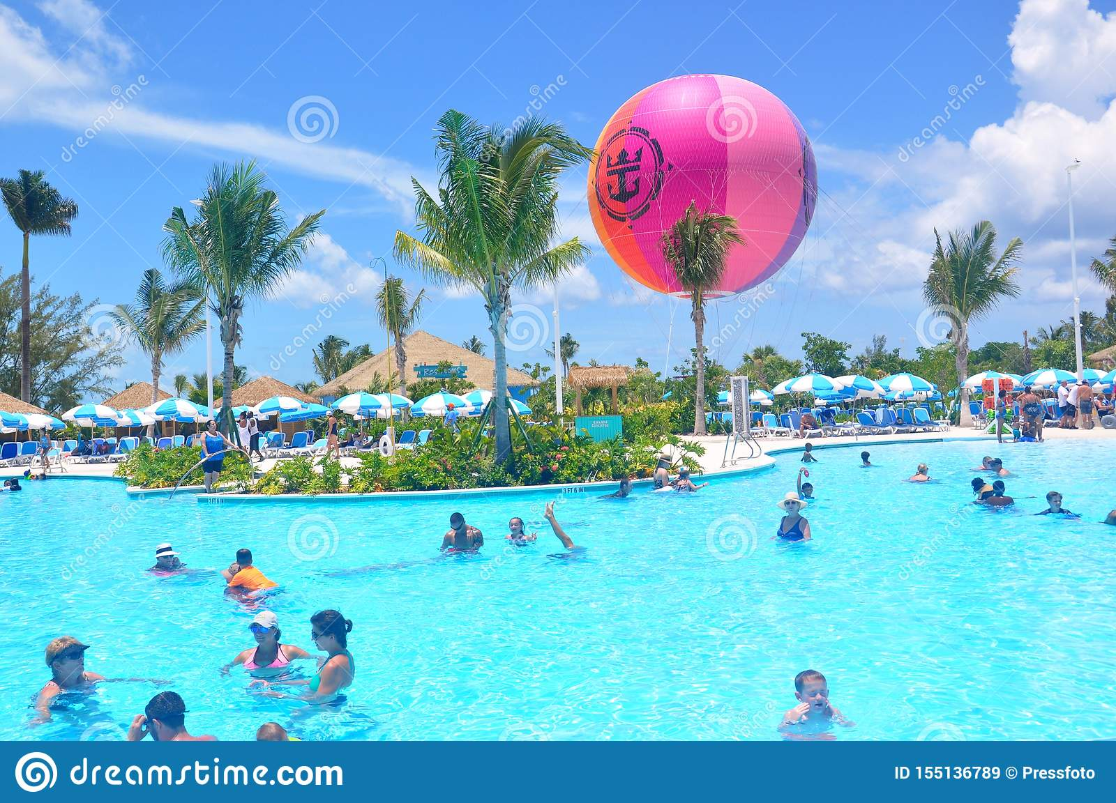 Lagoon Pool At The Perfect Day Cococay Editorial Stock Image