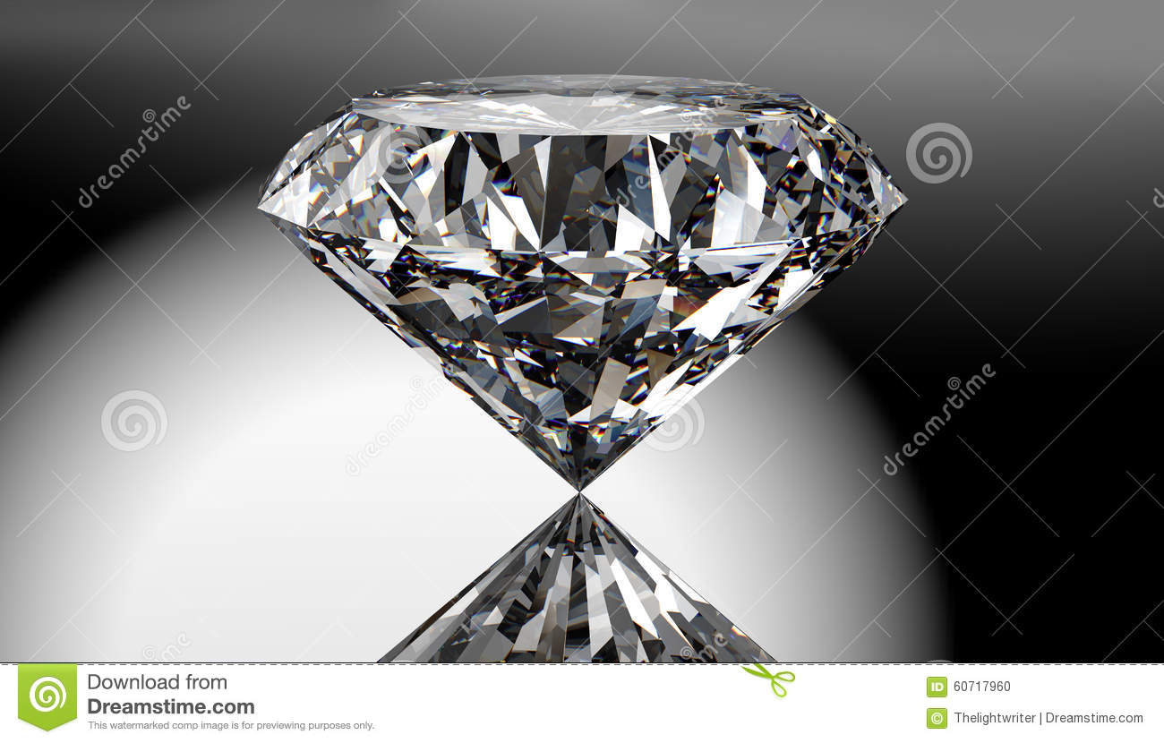 Perfect diamond isolated on shiny background with clipping path