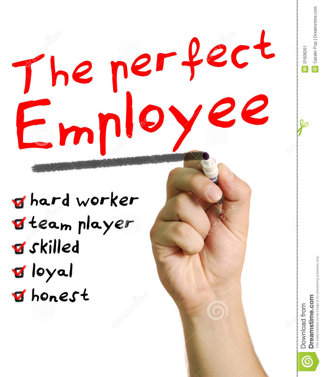 The Perfect Employee Stock Image Image 31608261